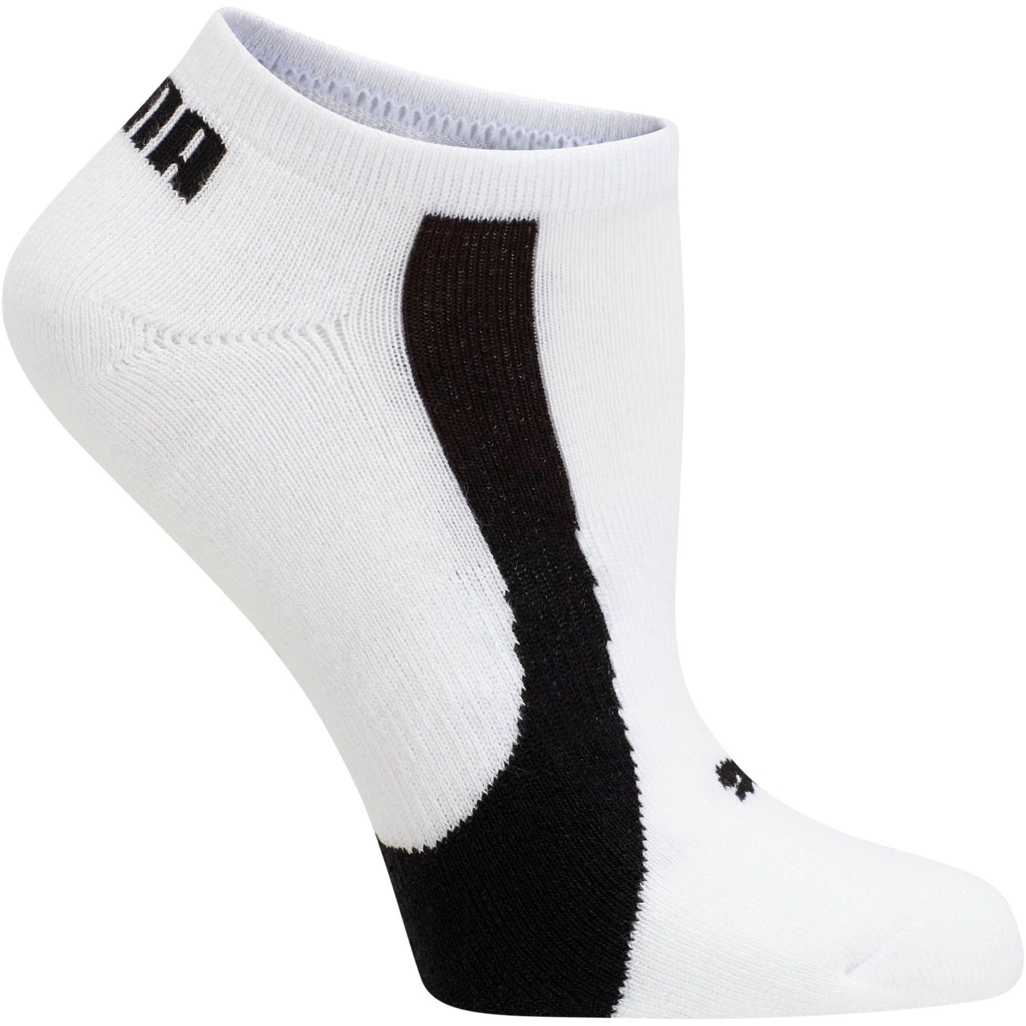 Thumbnail 3 of Women's No Show Socks [3 Pack], white-black, medium