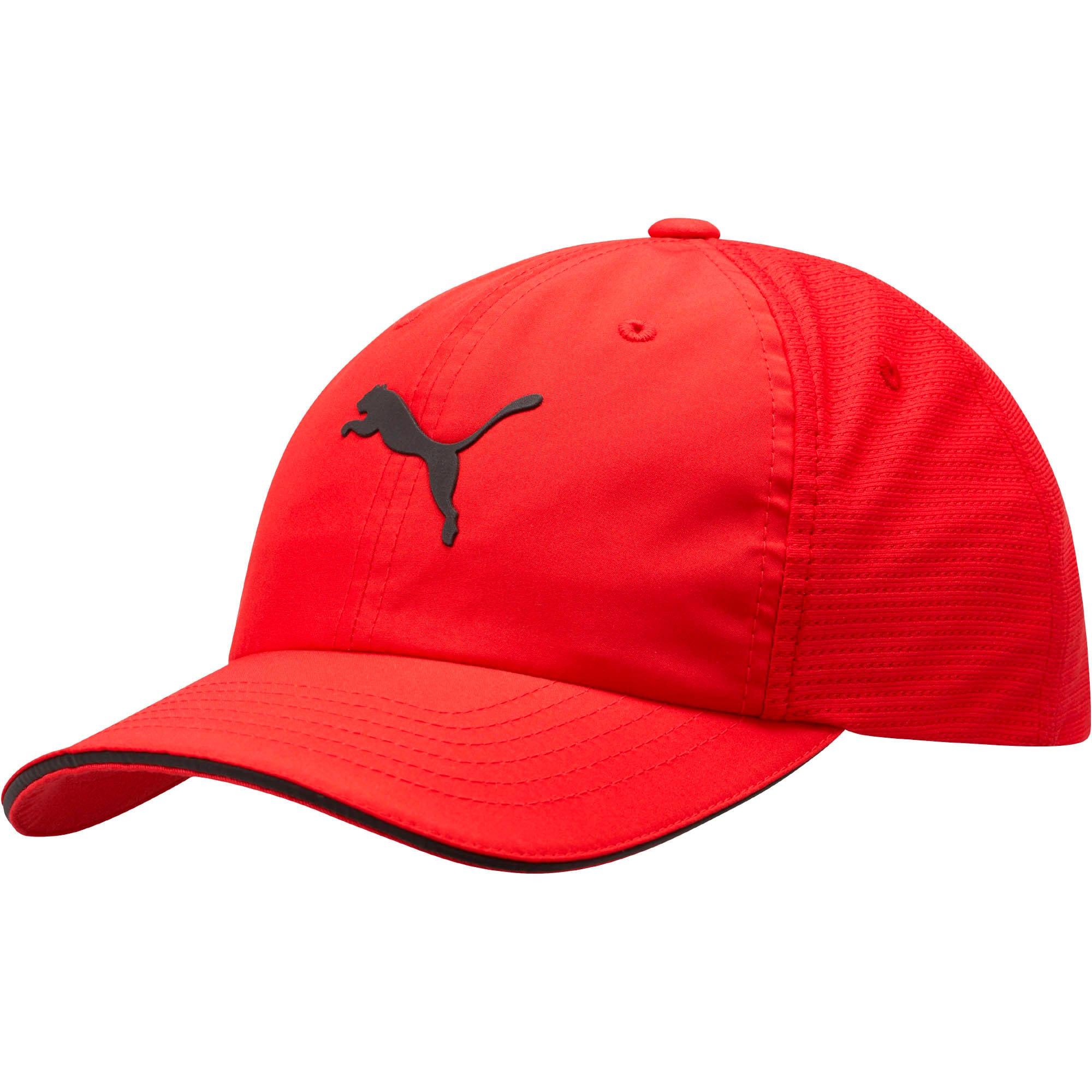 Thumbnail 1 of Mesh Running Hat, Red/Black, medium