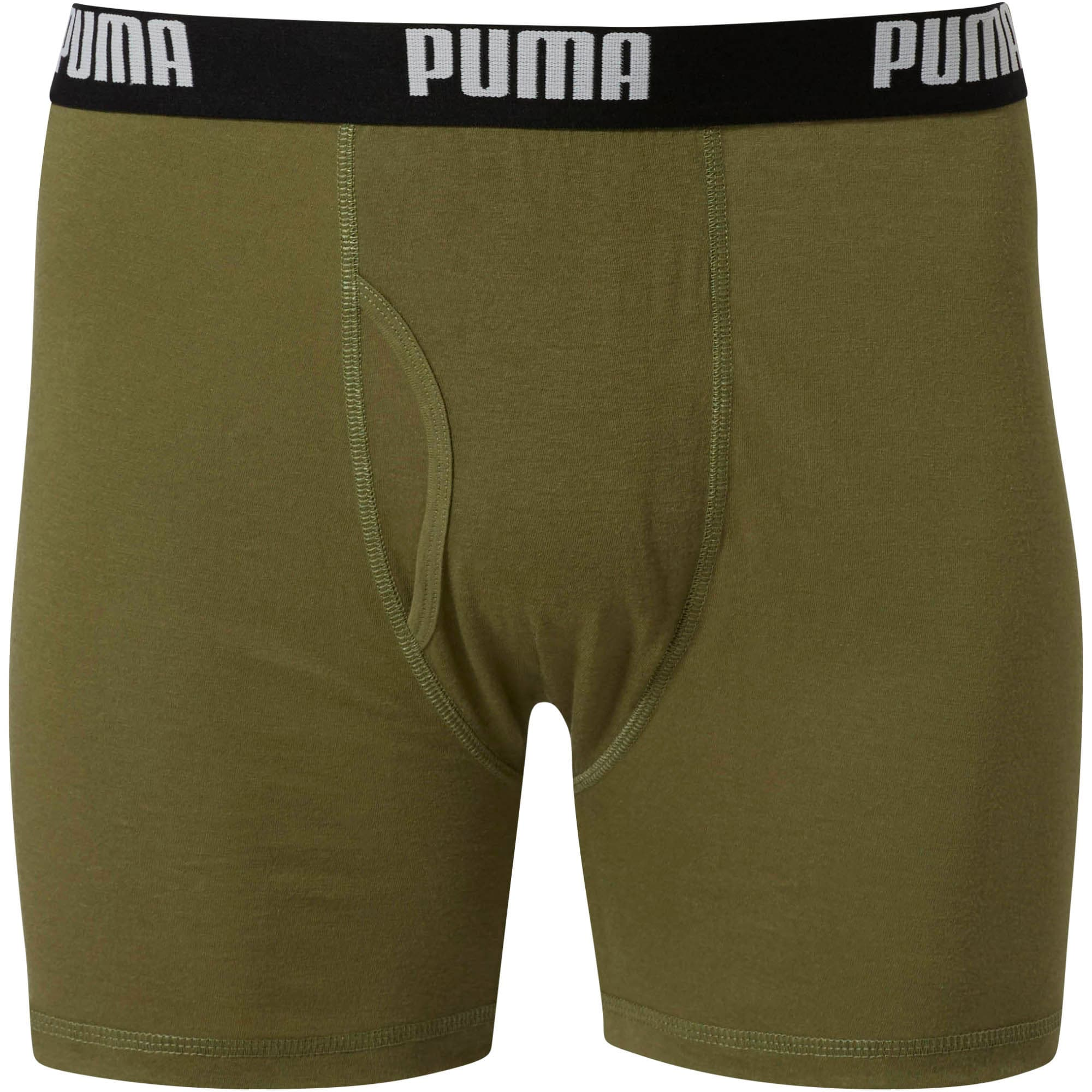 Thumbnail 3 of Men's Cotton Boxer Briefs [3 Pack], OLIVE, medium