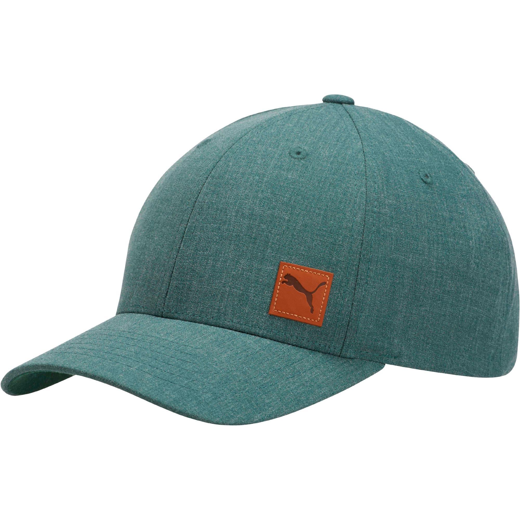 Thumbnail 1 of Denominator Flexfit Hat, Dark Green, medium