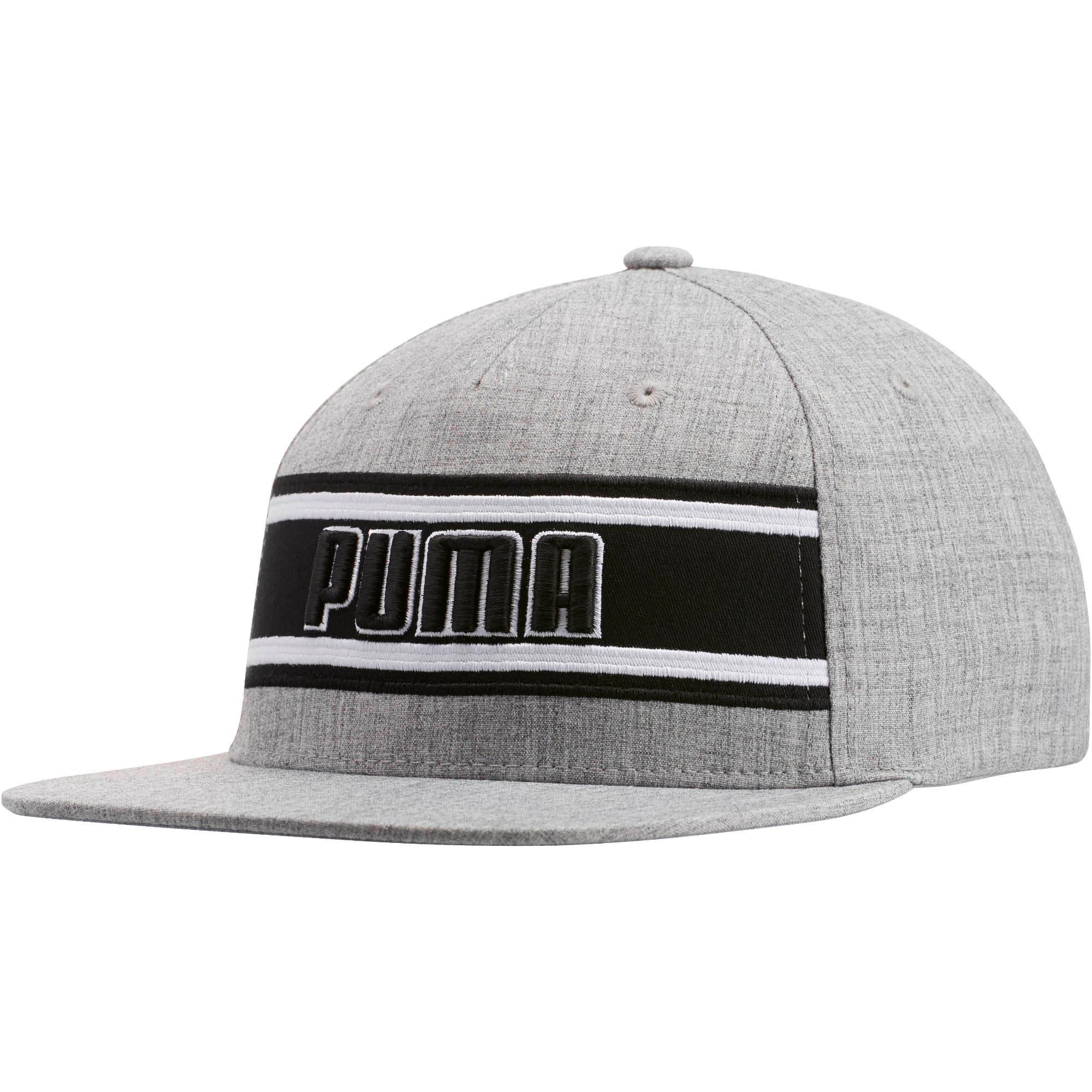 Thumbnail 1 of STAGE DIVE FLATBILL FLEXFIT Hat, GREY/BLACK, medium