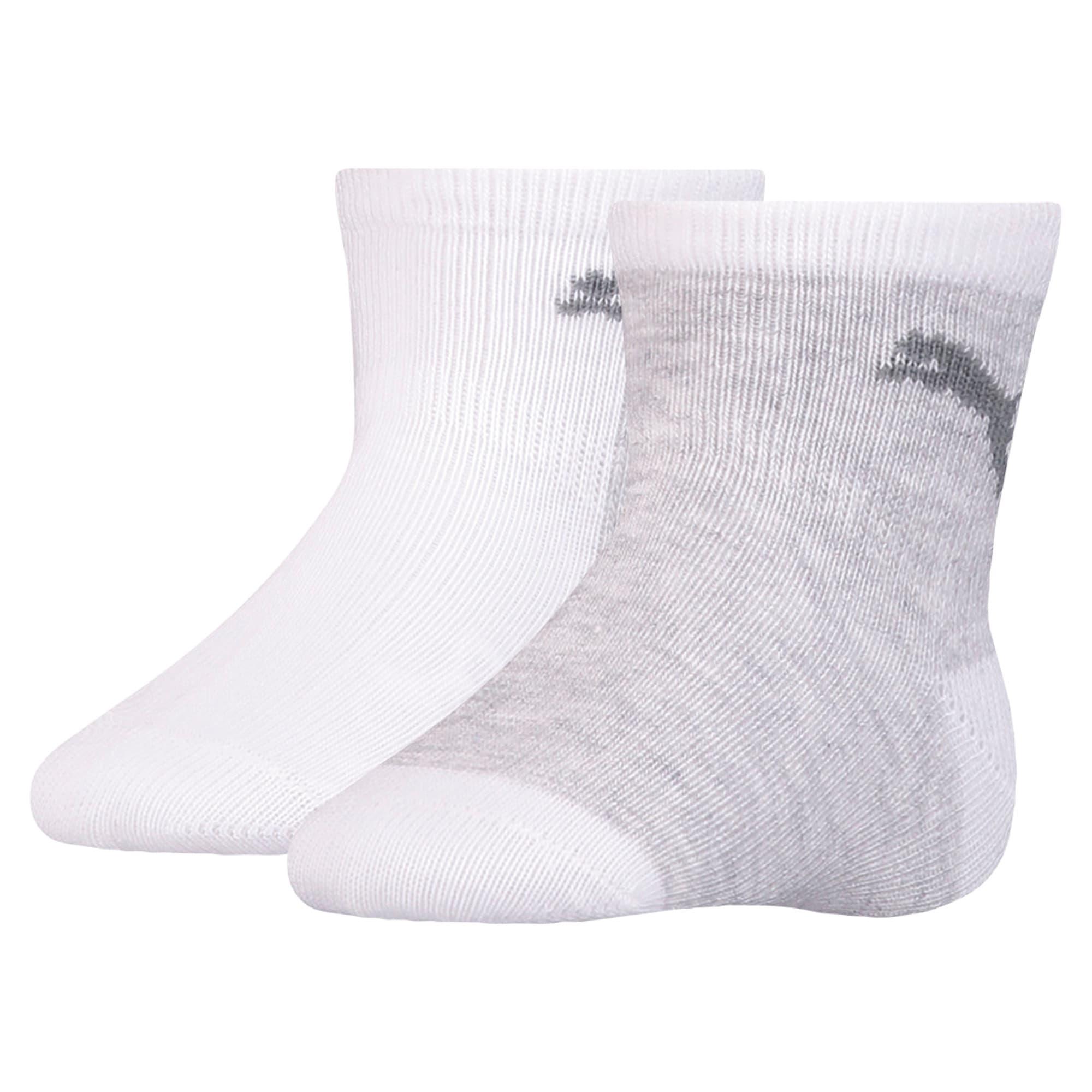 Thumbnail 1 of Mini Cats Anti-Slip Babies' Socks 2 Pack, white, medium