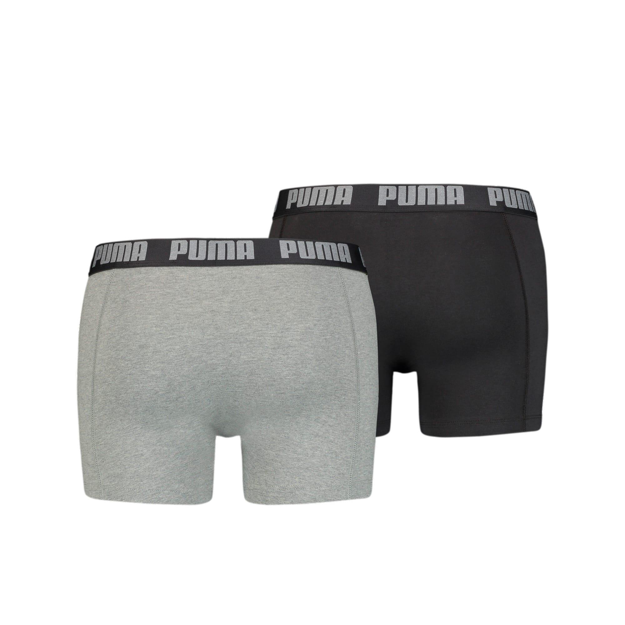 Thumbnail 5 of Men's Basic Boxer Shorts 2 Pack, dark grey melange / black, medium