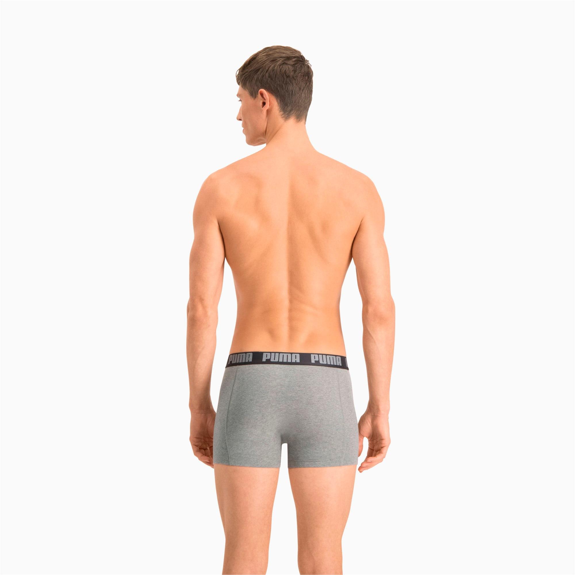 Thumbnail 2 of Men's Basic Boxer Shorts 2 Pack, dark grey melange / black, medium