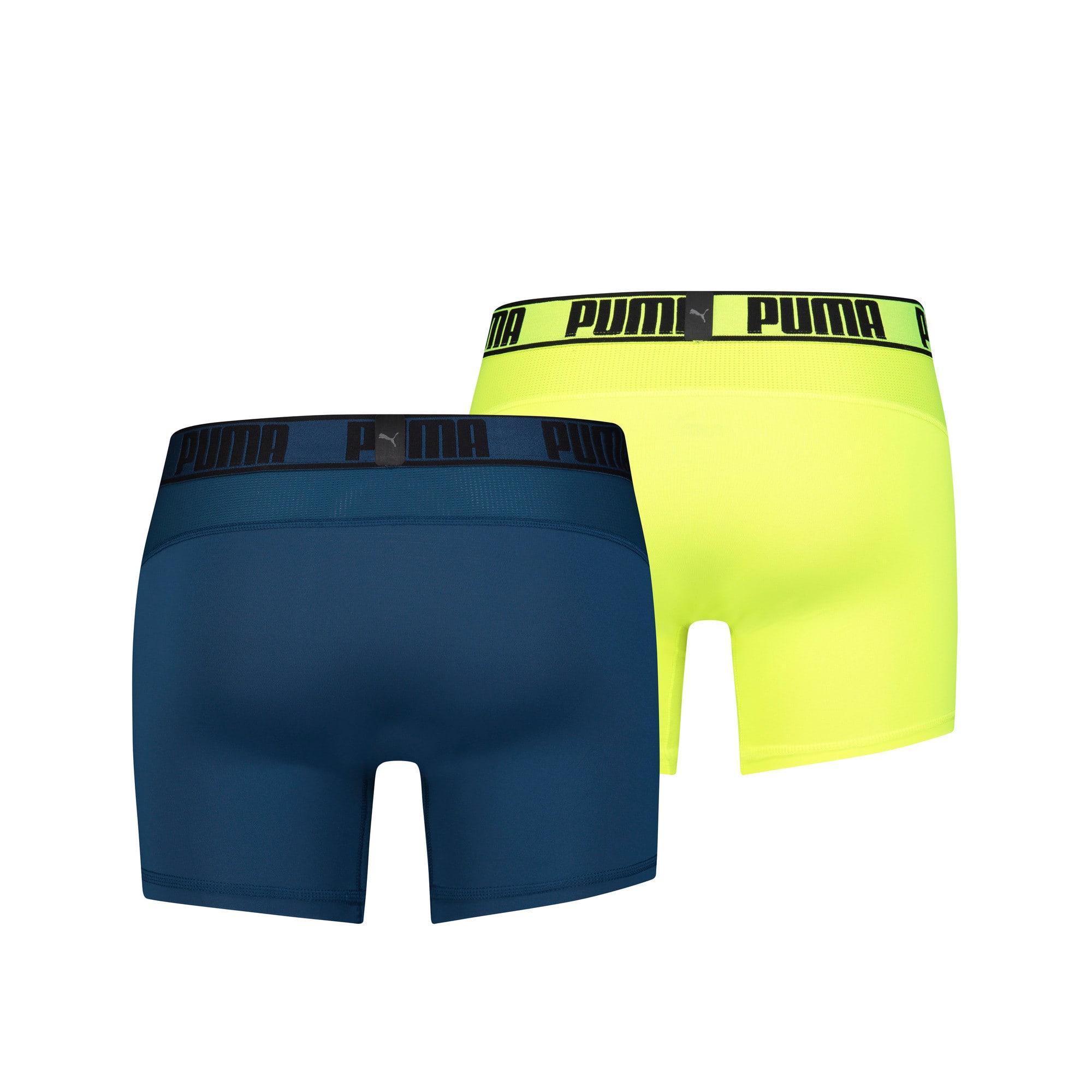 Thumbnail 2 of Active Men's Boxer Shorts 2 Pack, sea green / yellow, medium