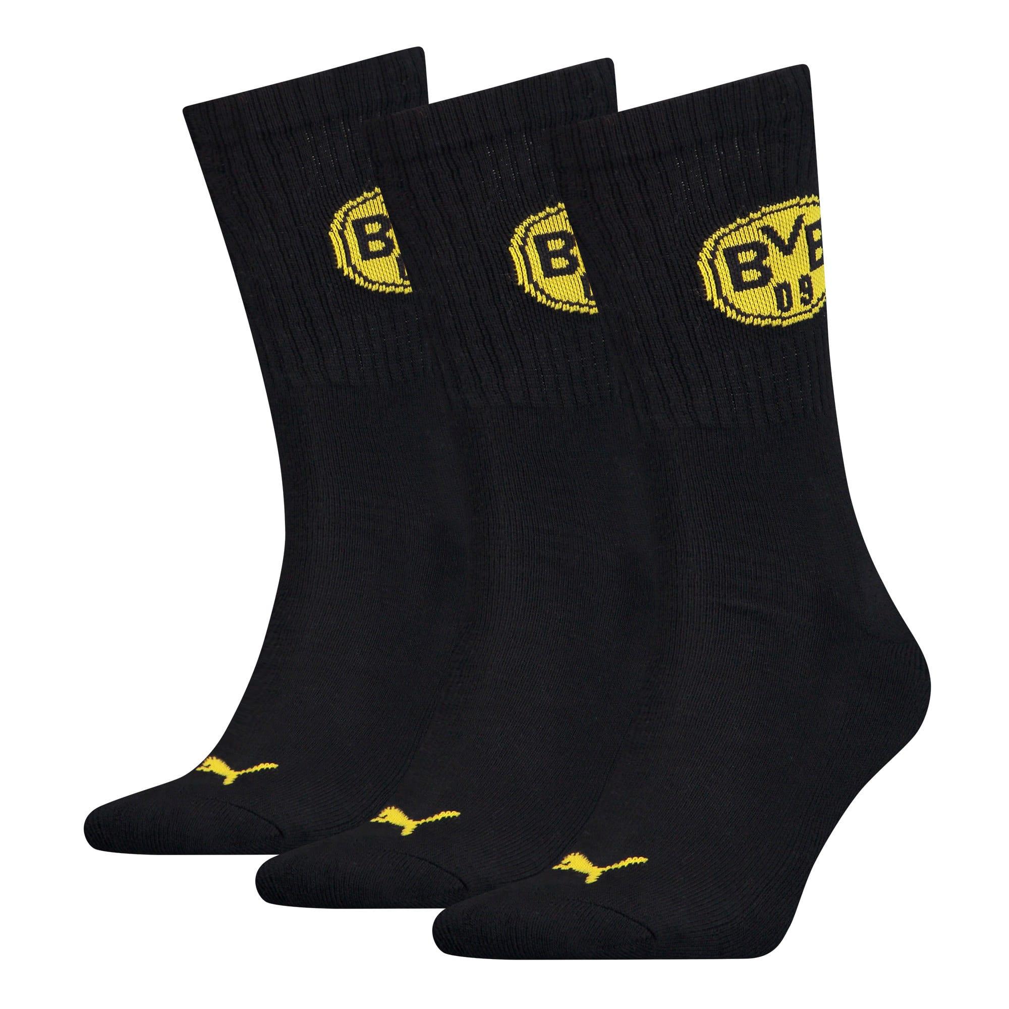 Thumbnail 1 of PUMA x BVB Sport Socks 3 Pack, black, medium
