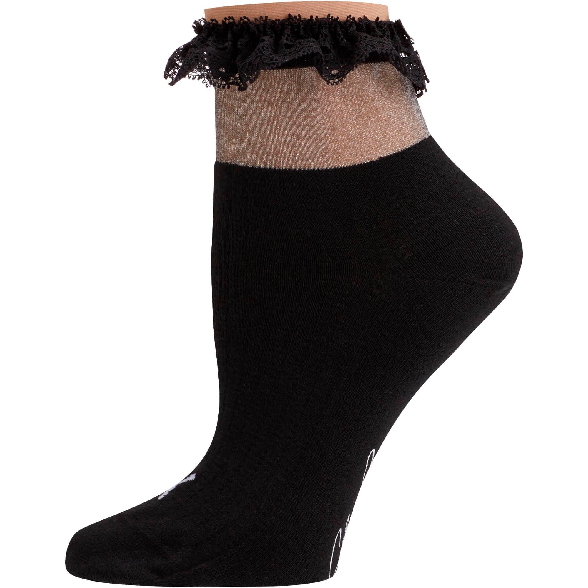Thumbnail 1 of SG x PUMA Ruffle Short Crew Socks [1 Pair], black, medium