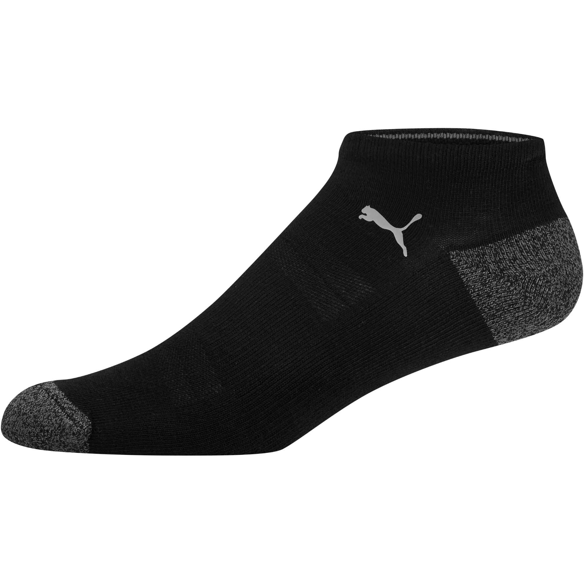 Thumbnail 2 of 1/2 Terry Men's No Show Socks [3 Pack], BLACK / GREY, medium