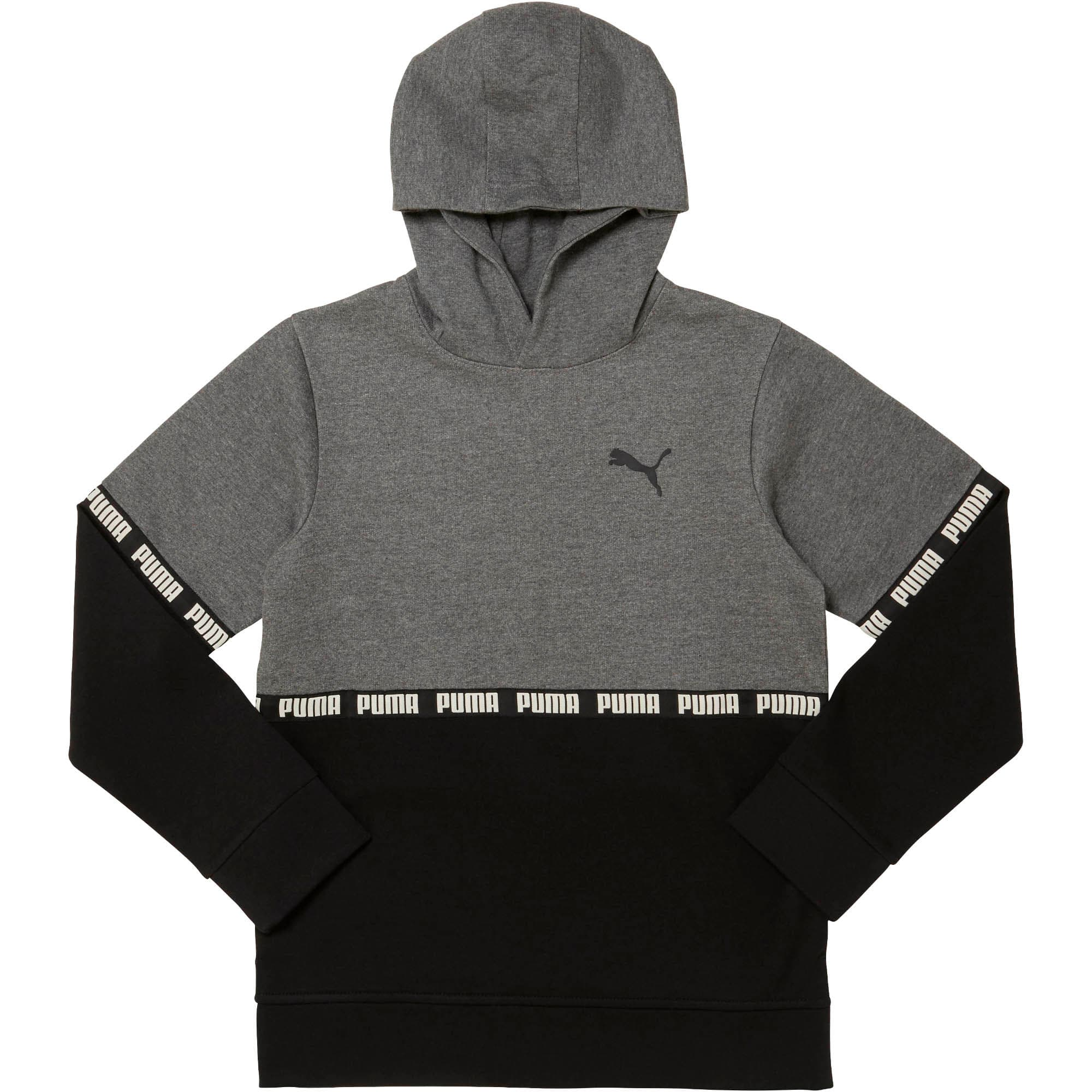 Thumbnail 1 of Boys' Colorblock Hoodie JR, CHARCOAL HEATHER, medium