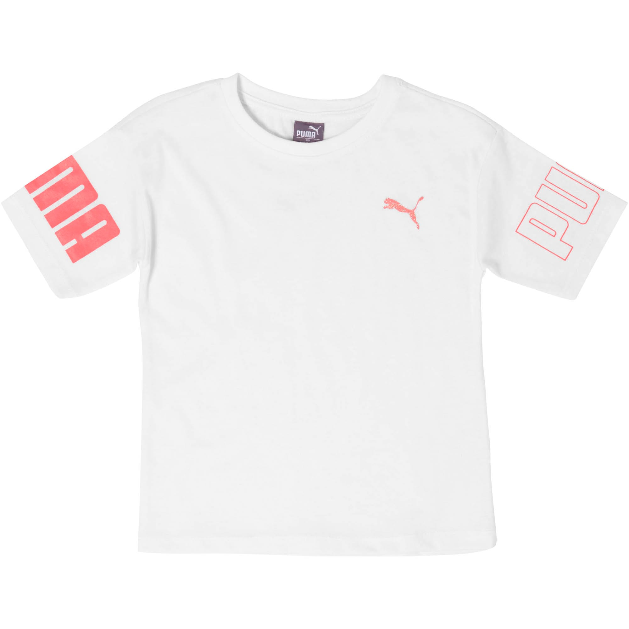Thumbnail 1 of Little Kids' Cotton Jersey Oversized Tee, PUMA WHITE, medium