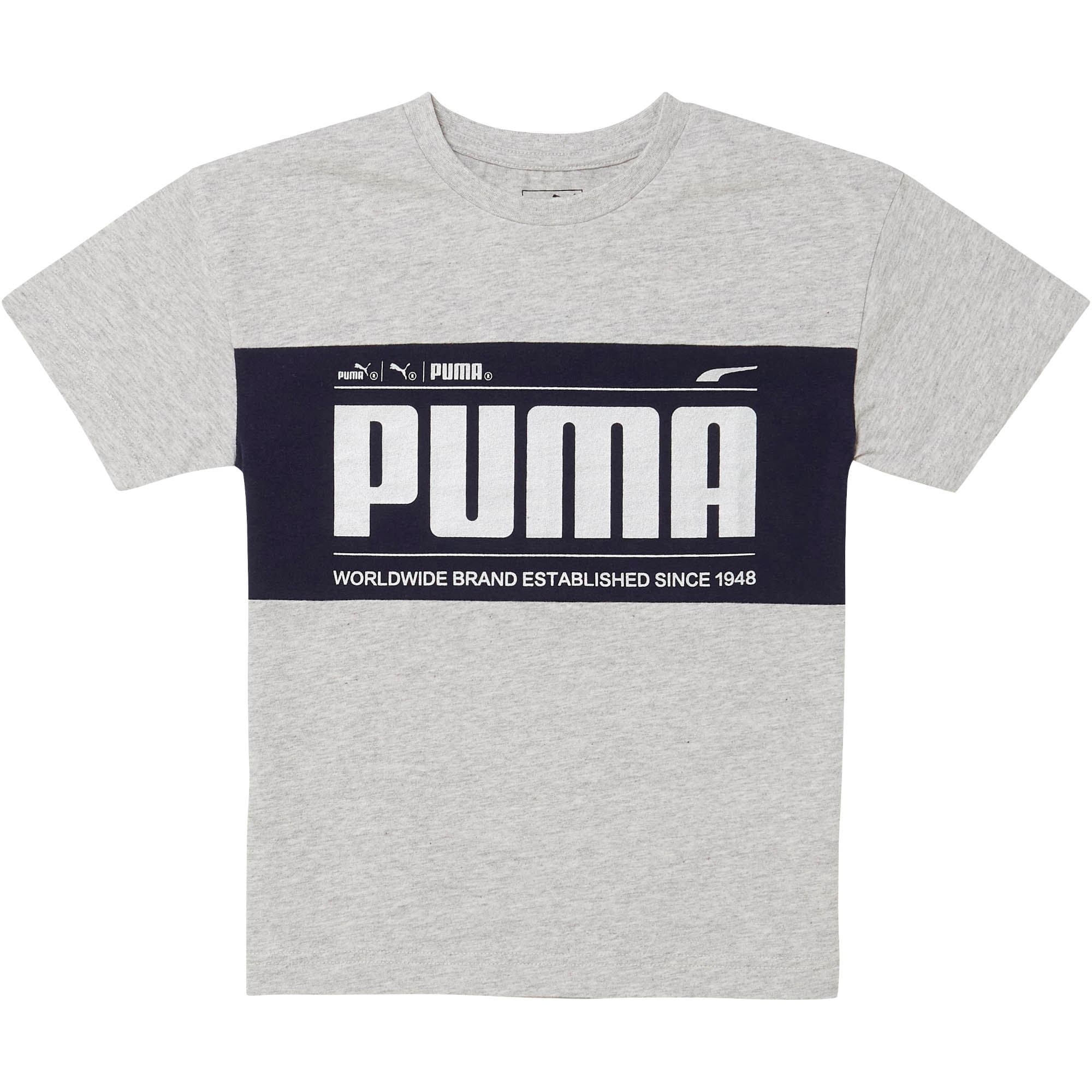 Thumbnail 1 of Little Kids' Oversized Tee, LT HEATHER GREY, medium
