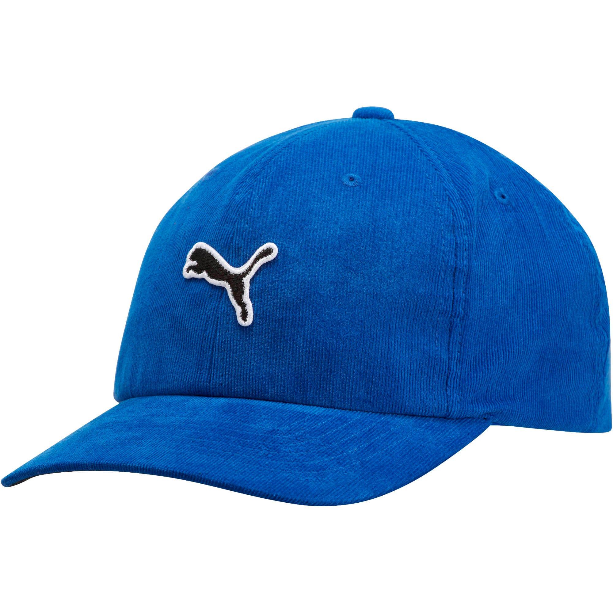 Thumbnail 1 of PUMA Corduroy Adjustable Hat, Dark Blue, medium