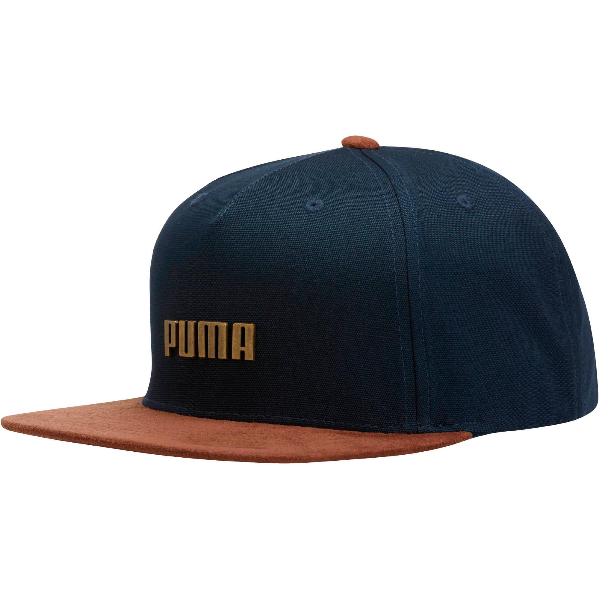 Thumbnail 1 of PUMA Letterman Flatbill Adjustable Hat, Navy, medium