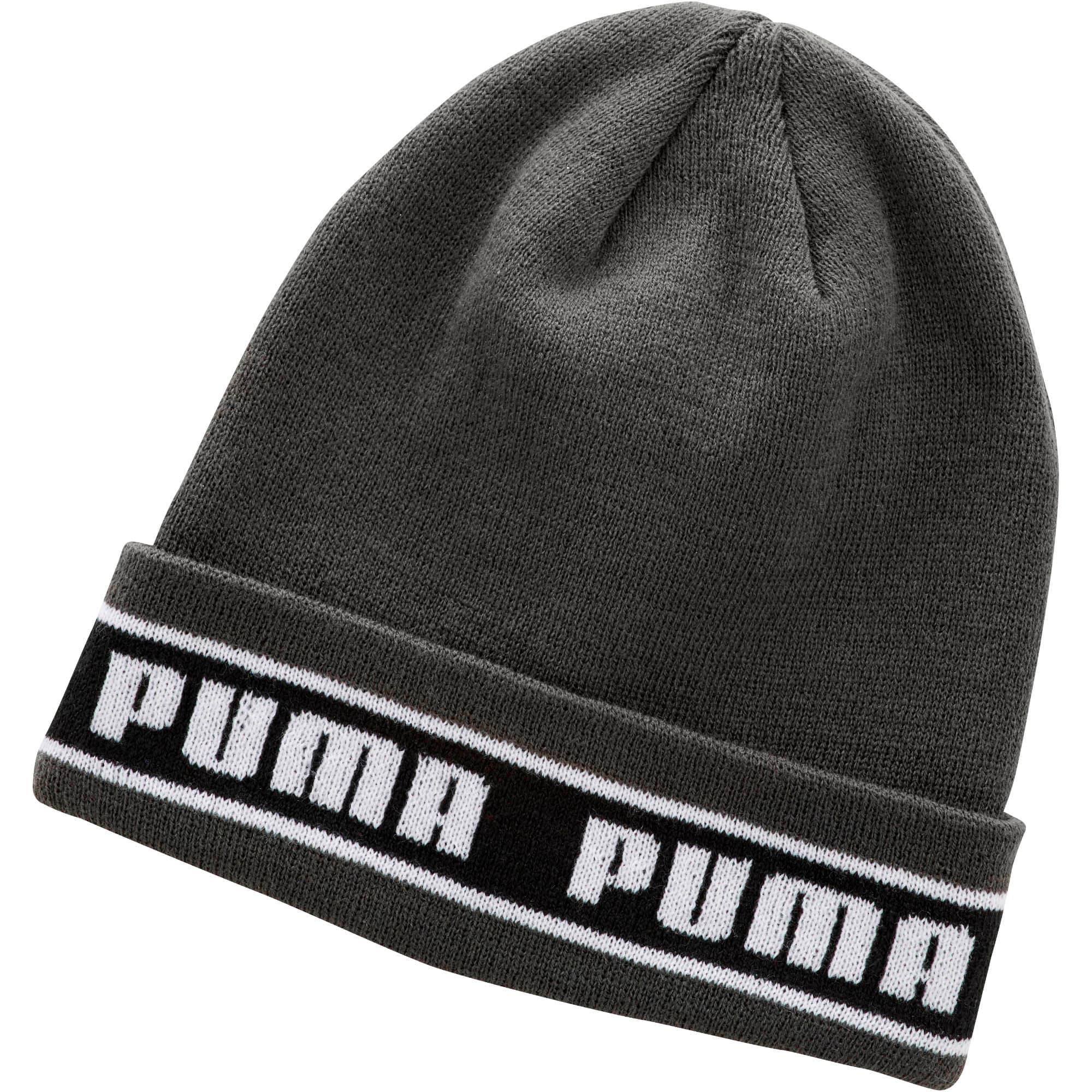 Thumbnail 1 of PUMA Logo Band Beanie, Green/Black, medium