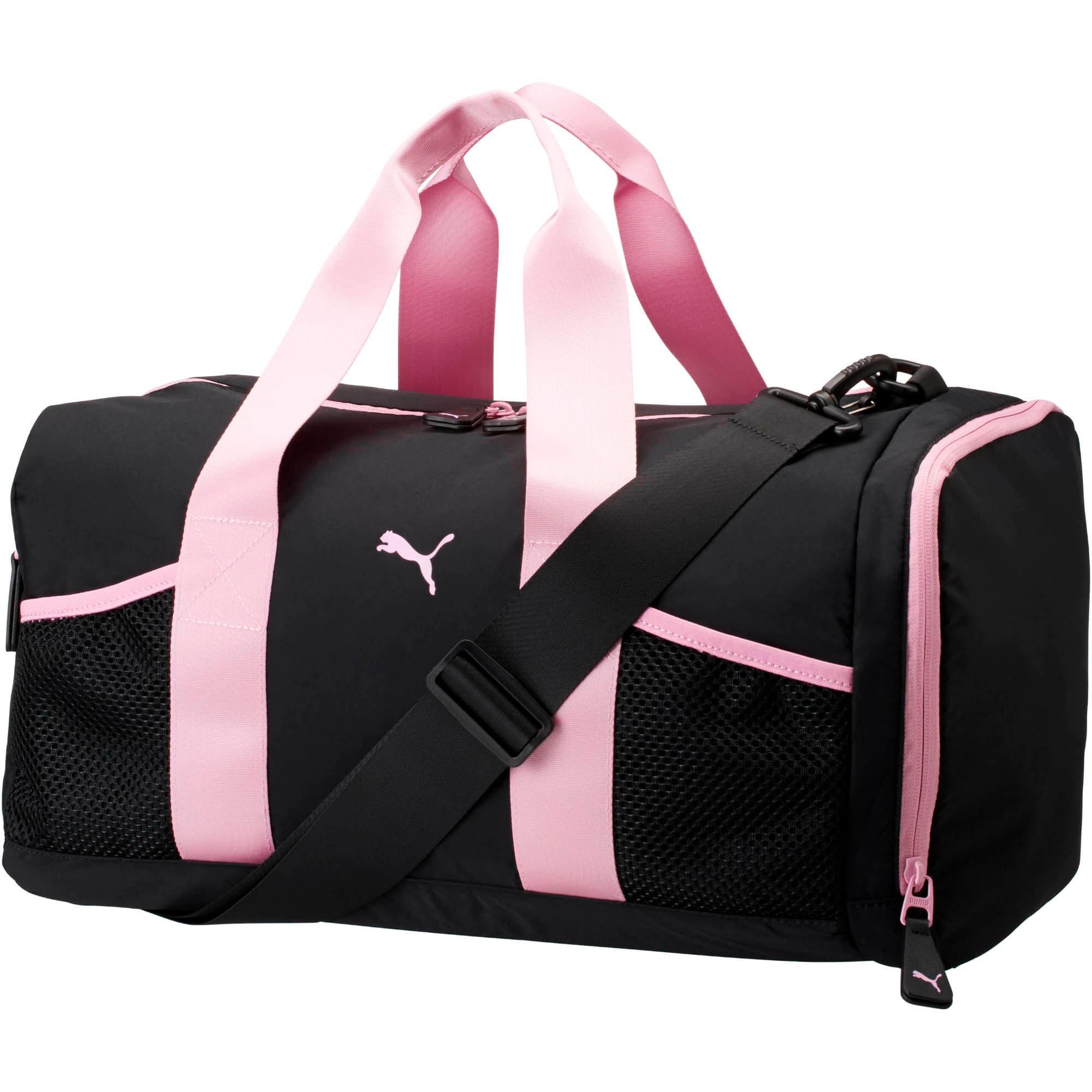 Thumbnail 1 of PUMA Upward Duffel Bag, Blk/Pink, medium