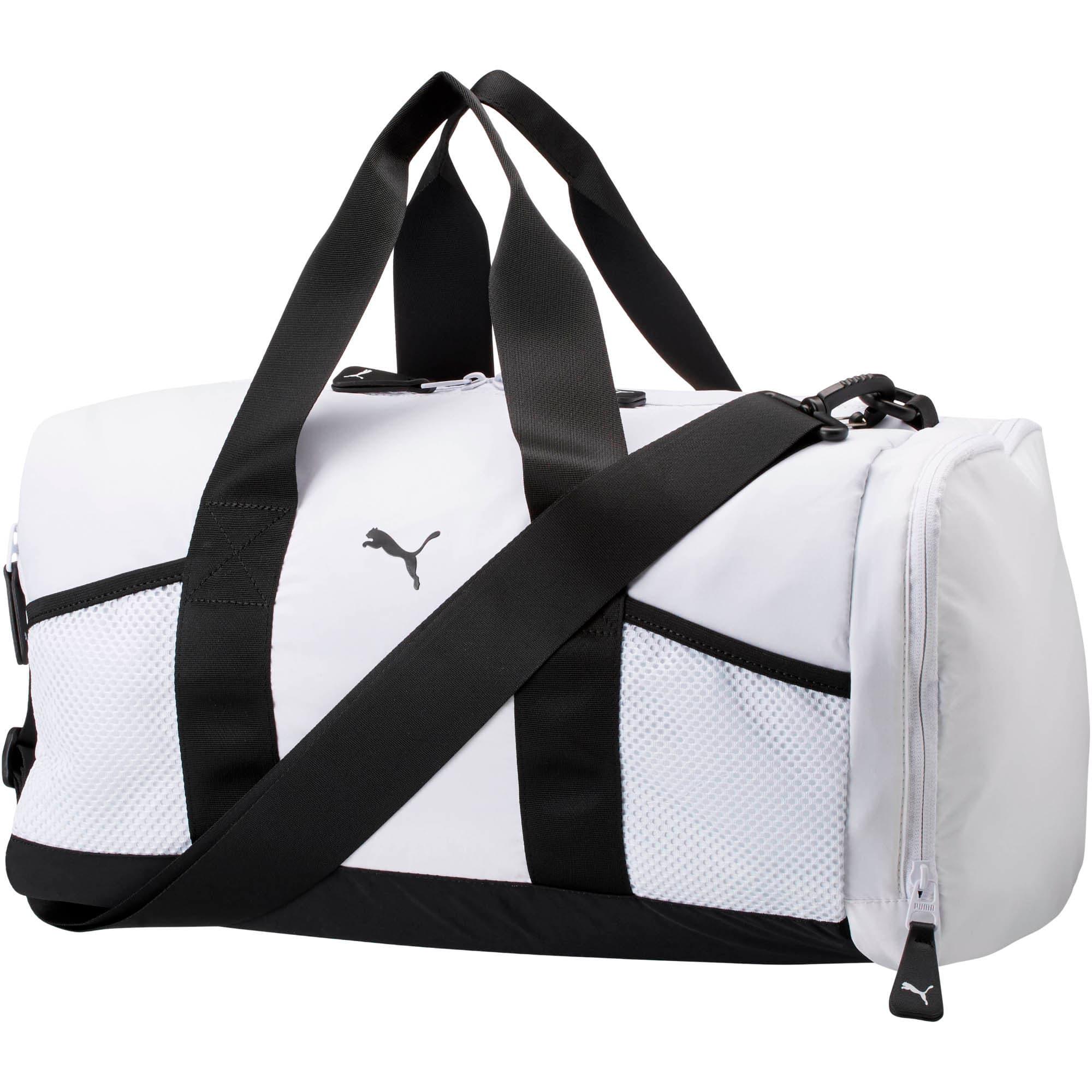Thumbnail 1 of PUMA Upward Duffel Bag, White/Black, medium