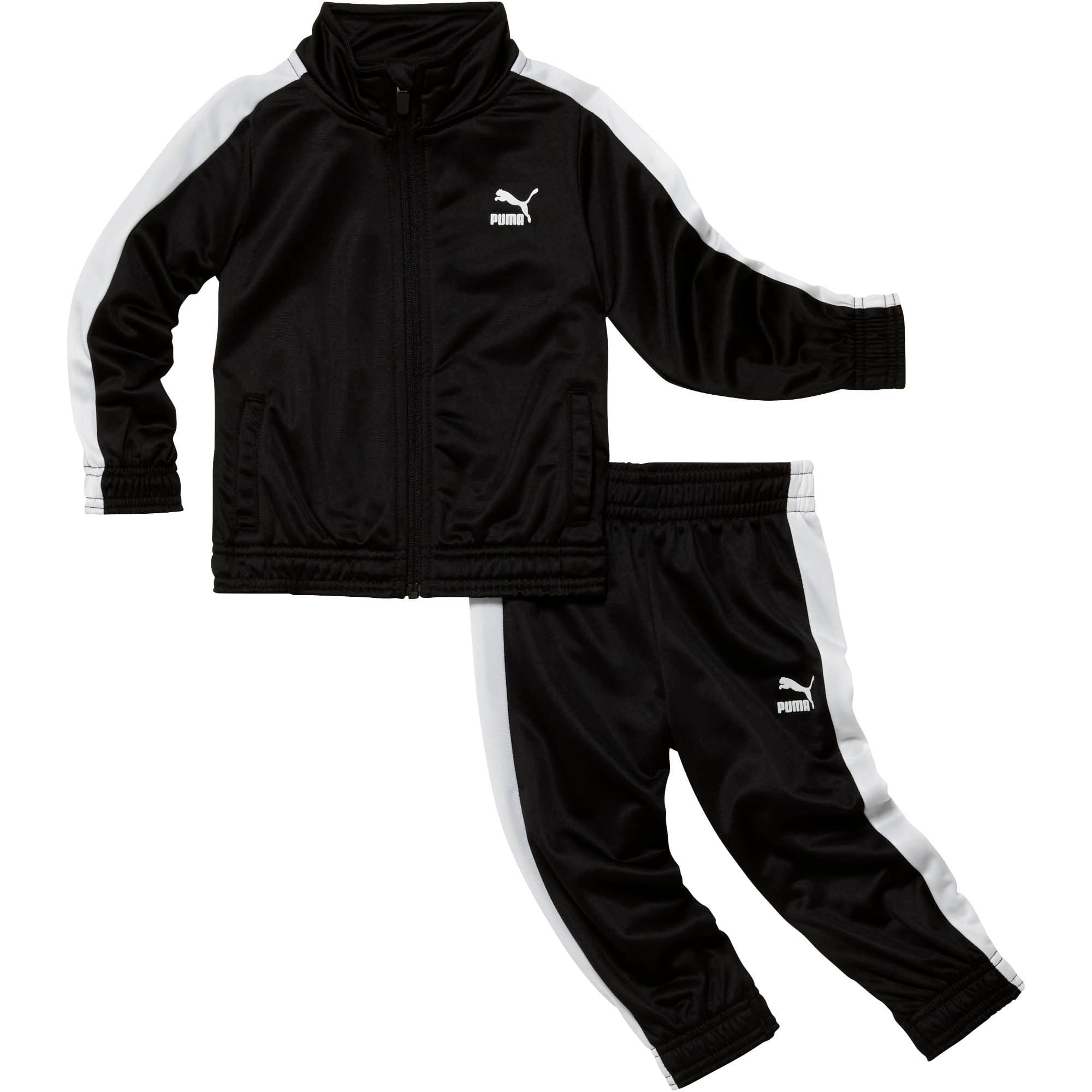 Thumbnail 1 of Infant + Toddler Tracksuit Set, PUMA BLACK, medium