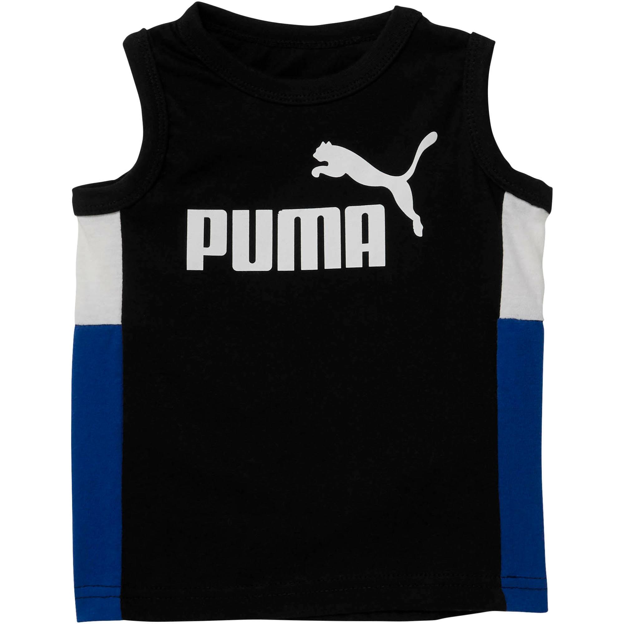 Thumbnail 1 of Toddler Colorblock Muscle Tank, PUMA BLACK, medium