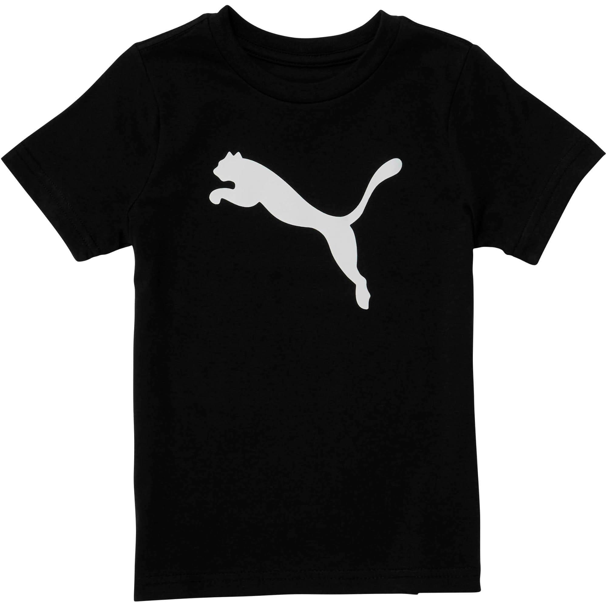 Miniatura 1 de Camiseta de jersey de algodón Heather para bebés, PUMA BLACK, mediano