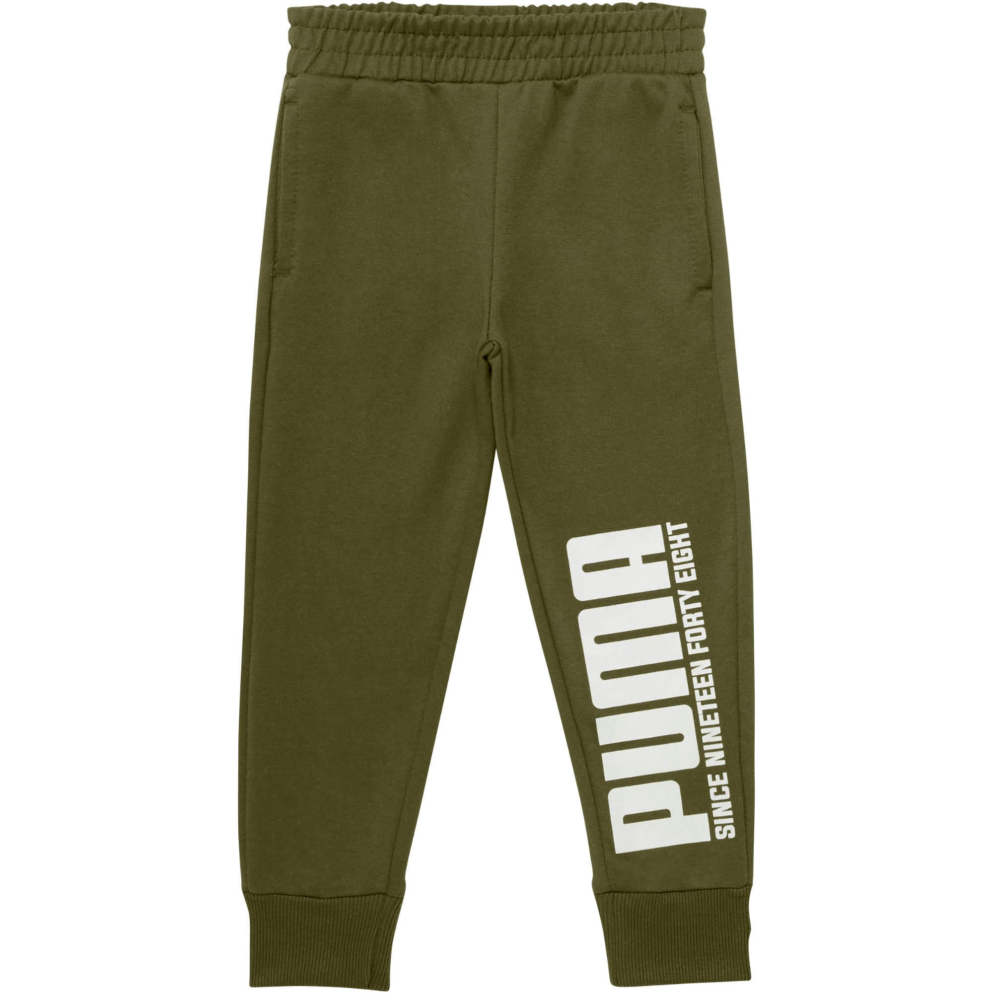 Little Kids' Terry Joggers, OLIVINE, large