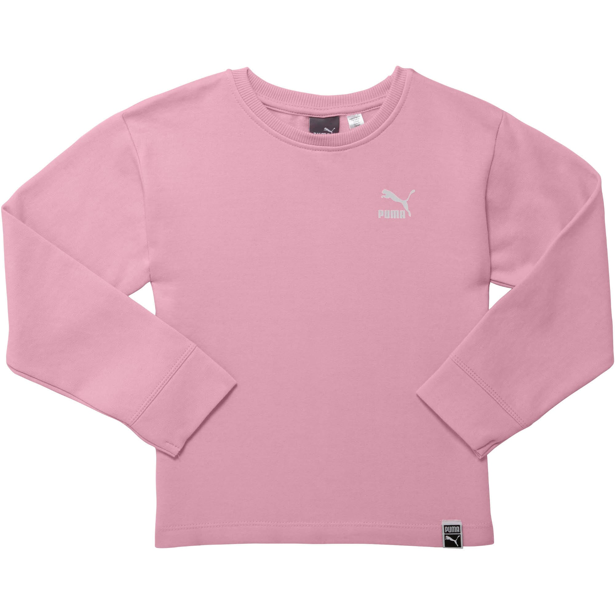 Thumbnail 1 of Little Kids' Oversized Fleece Pullover, PALE PINK, medium