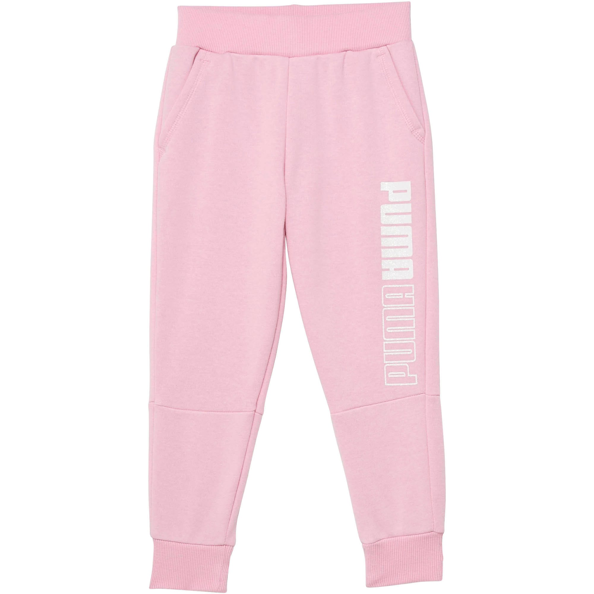 Thumbnail 1 of Little Kids' Fleece Joggers, PALE PINK, medium