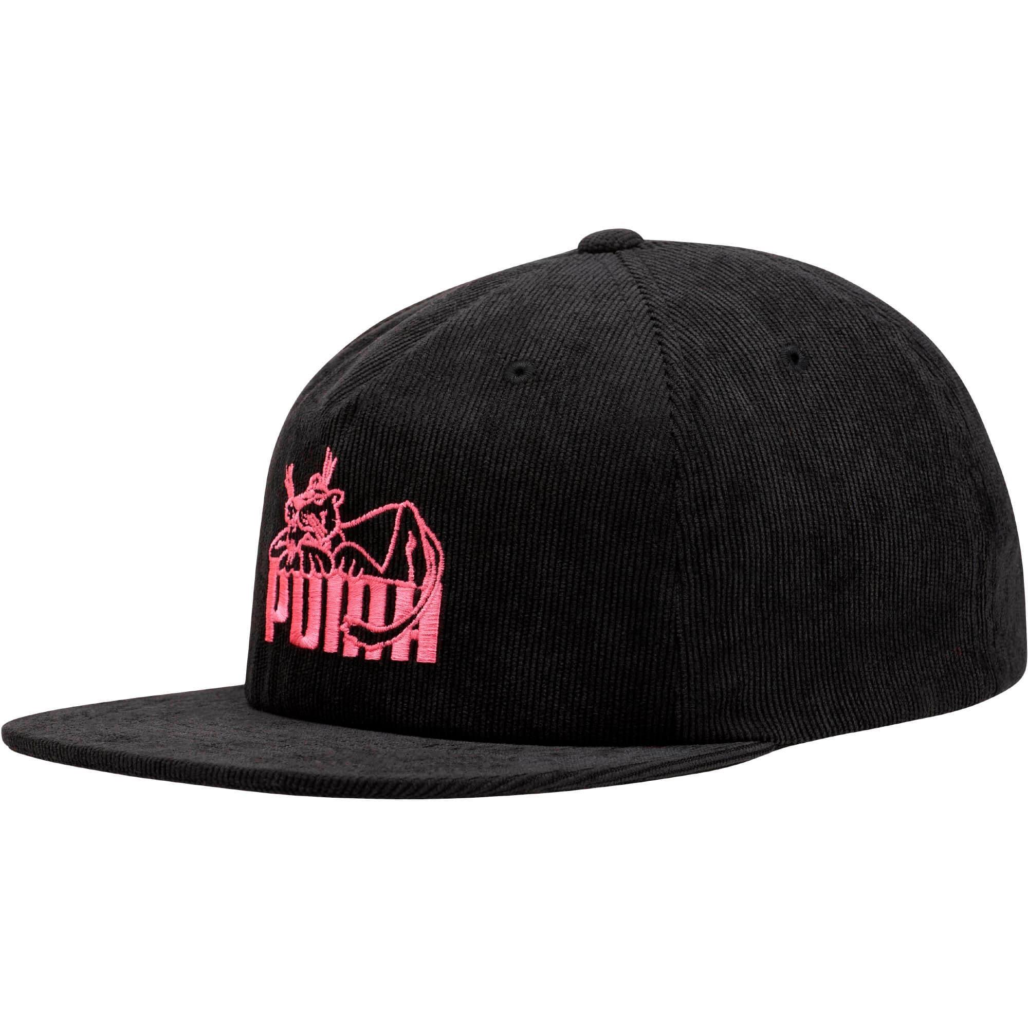 Thumbnail 1 of Core Super PUMA Flat Brim Hat, BLACK / PINK, medium
