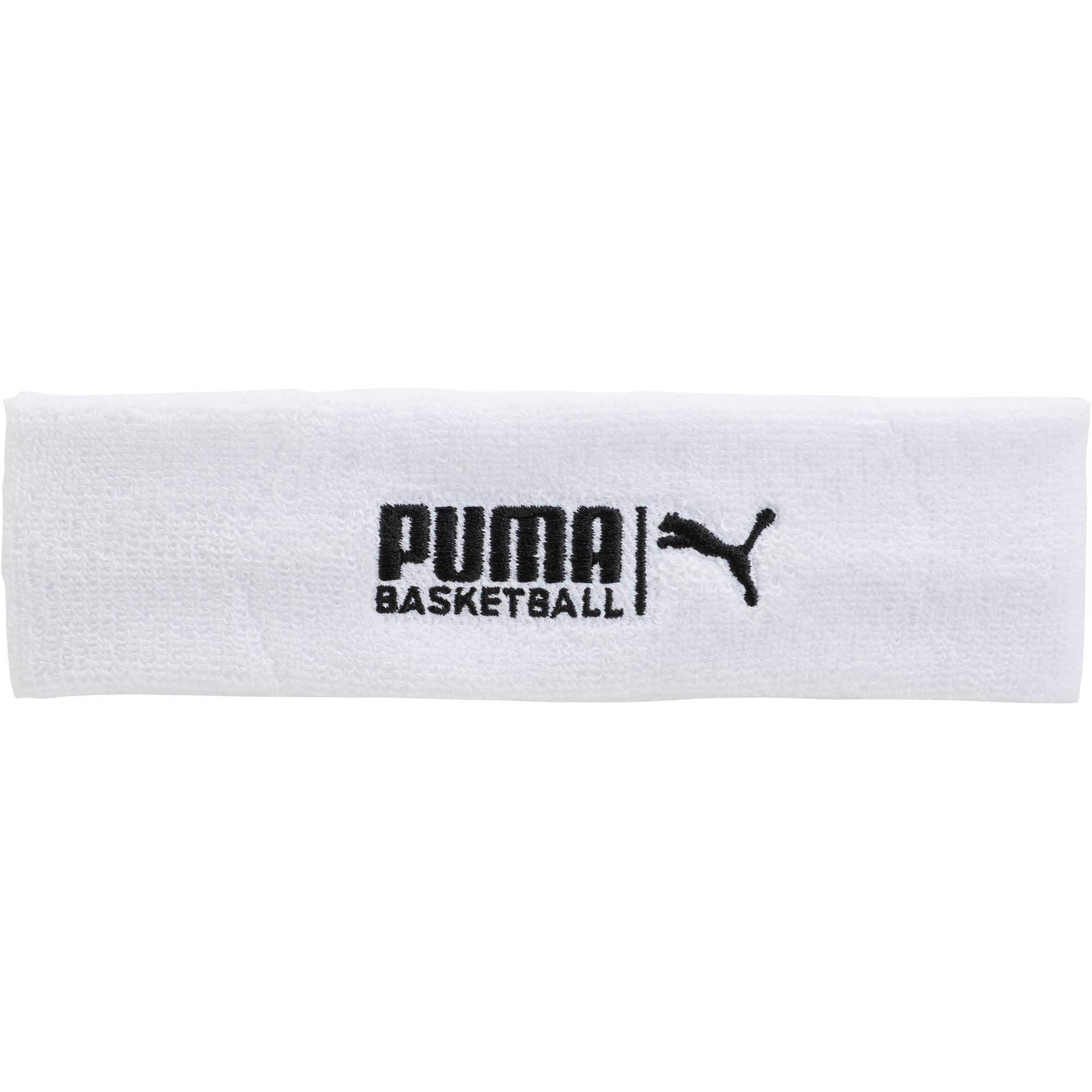 Thumbnail 1 of PUMA Basketball Sweat Headband, WHITE / BLACK, medium