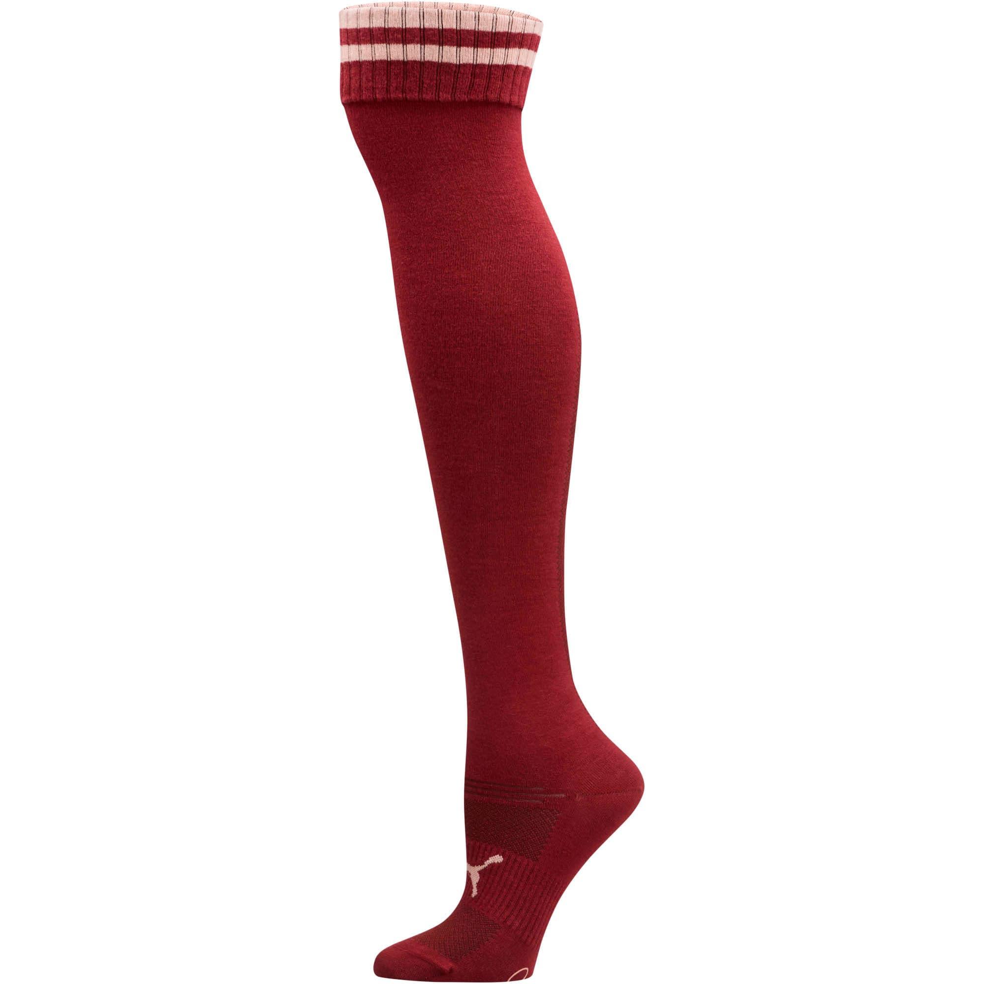 Thumbnail 1 of Women's Over-the-Knee Socks [1 Pair], BURGUNDY, medium