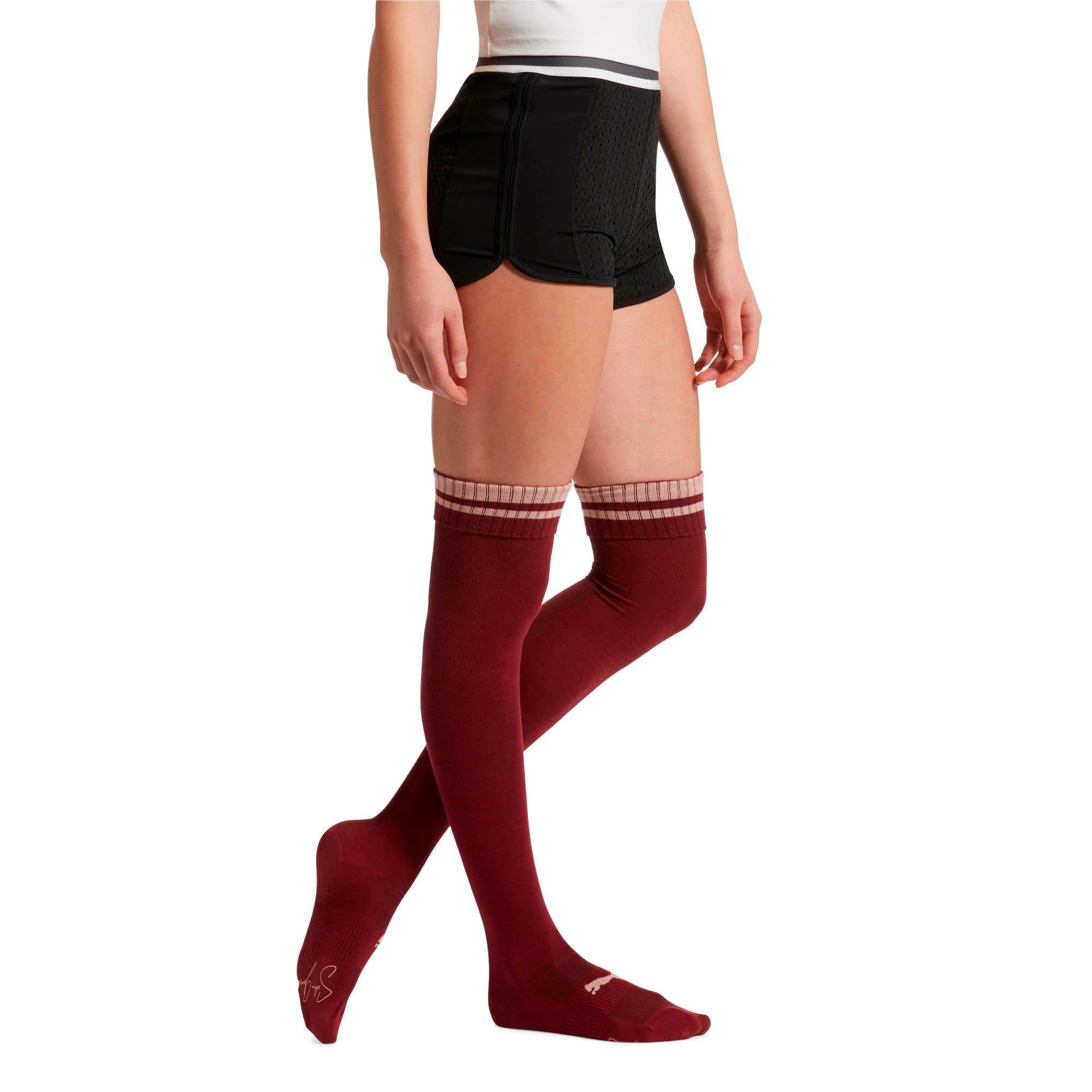 Thumbnail 2 of Women's Over-the-Knee Socks [1 Pair], BURGUNDY, medium