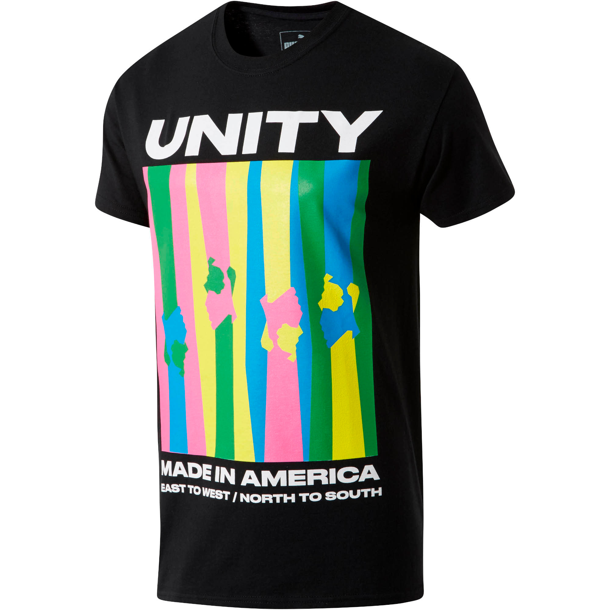 Thumbnail 1 of PUMA Unity x MIA x Josh Vides Classic Short Sleeve T-Shirt, Black, medium