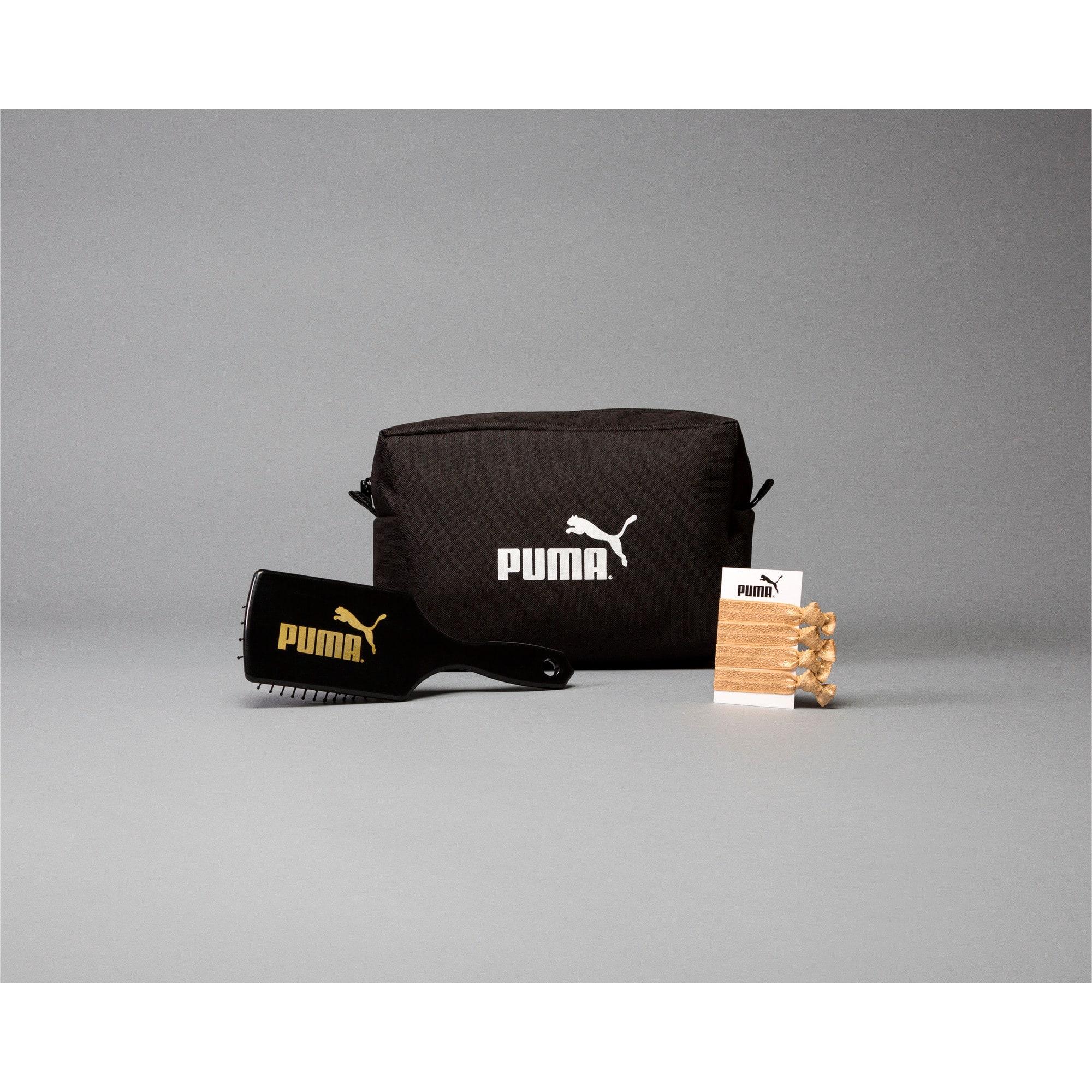 Thumbnail 1 of PUMA-Branded Makeup Bag, Black, medium