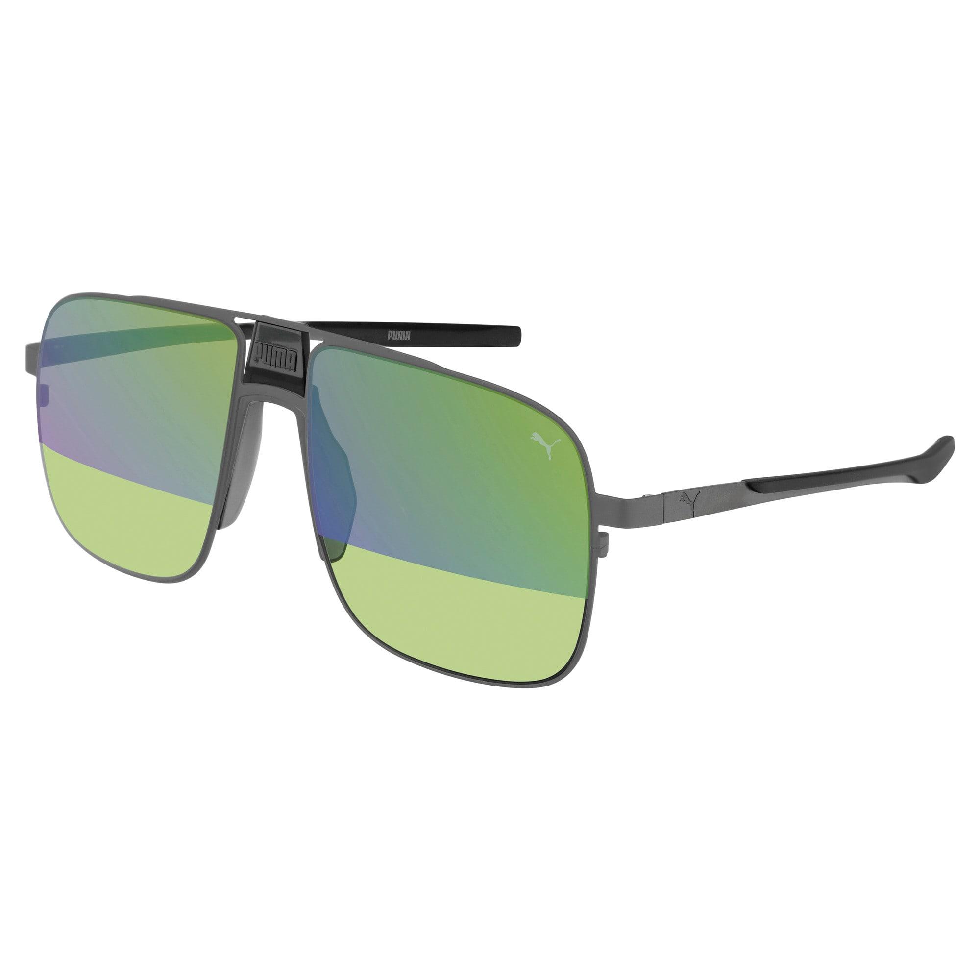 Thumbnail 1 of Men's Sunglasses, RUTHENIUM-RUTHENIUM-GREEN, medium