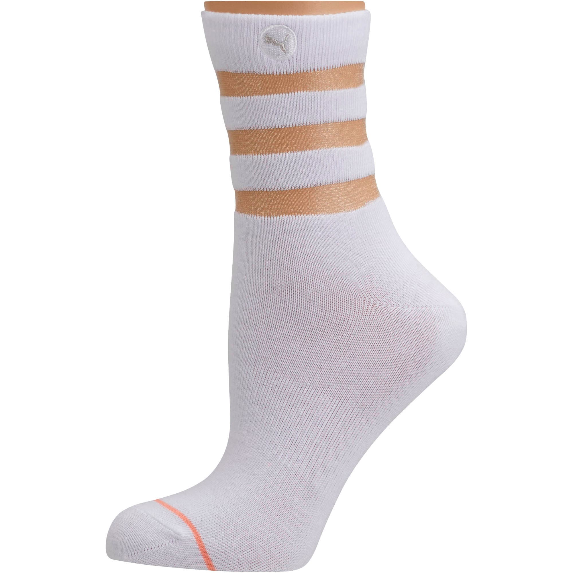 Thumbnail 1 of Women's Sheer Tube Socks [1 Pair], WHITE / CORAL, medium