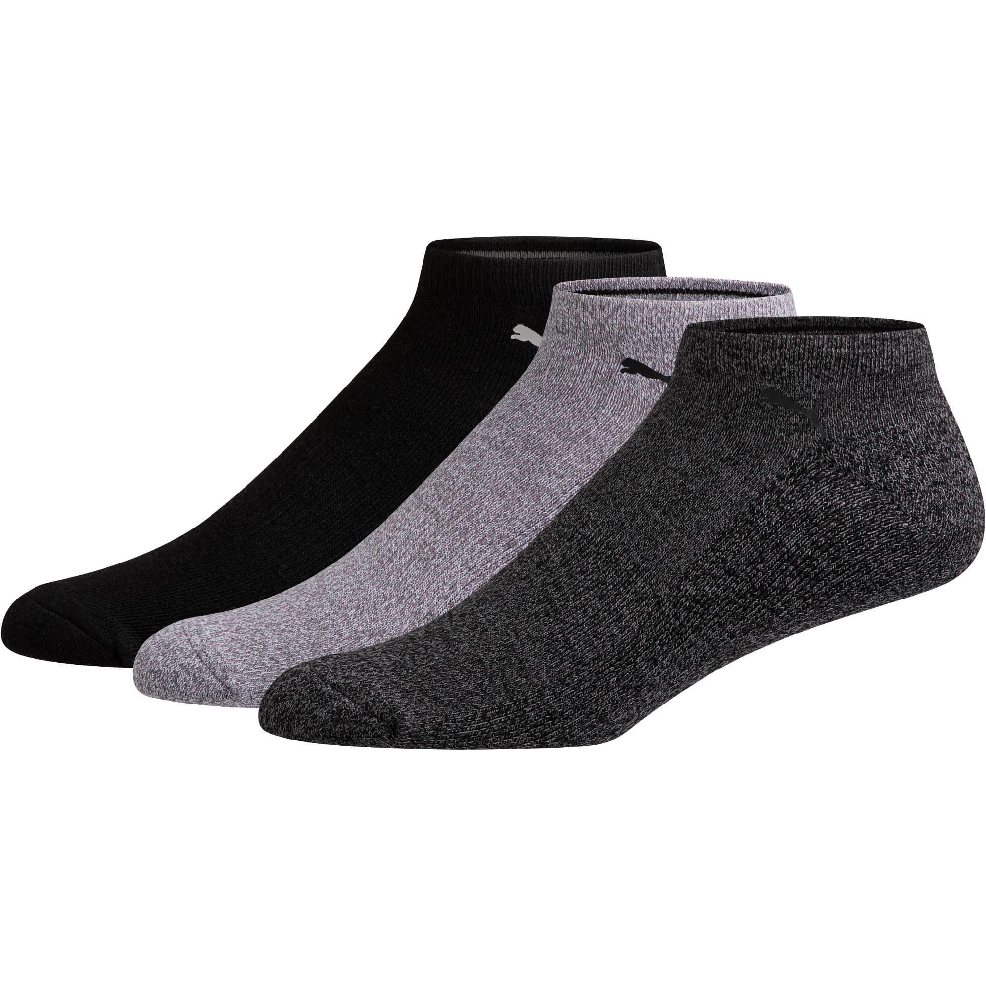Thumbnail 1 of Men's No Show Socks [3 Pack], GREY / BLACK, medium