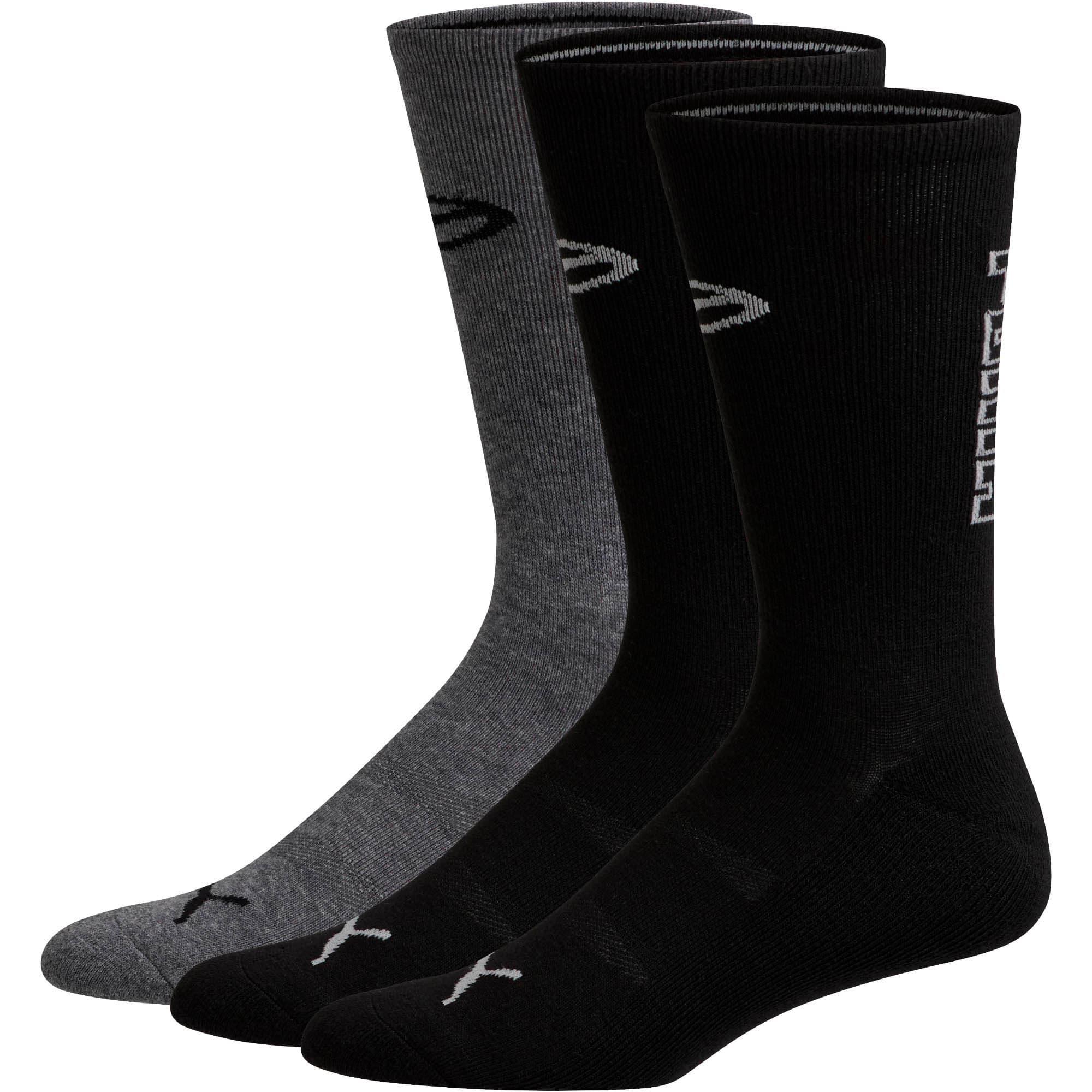 Thumbnail 1 of Men's Fashion Crew Socks [3 Pack], BLACK / GREY, medium