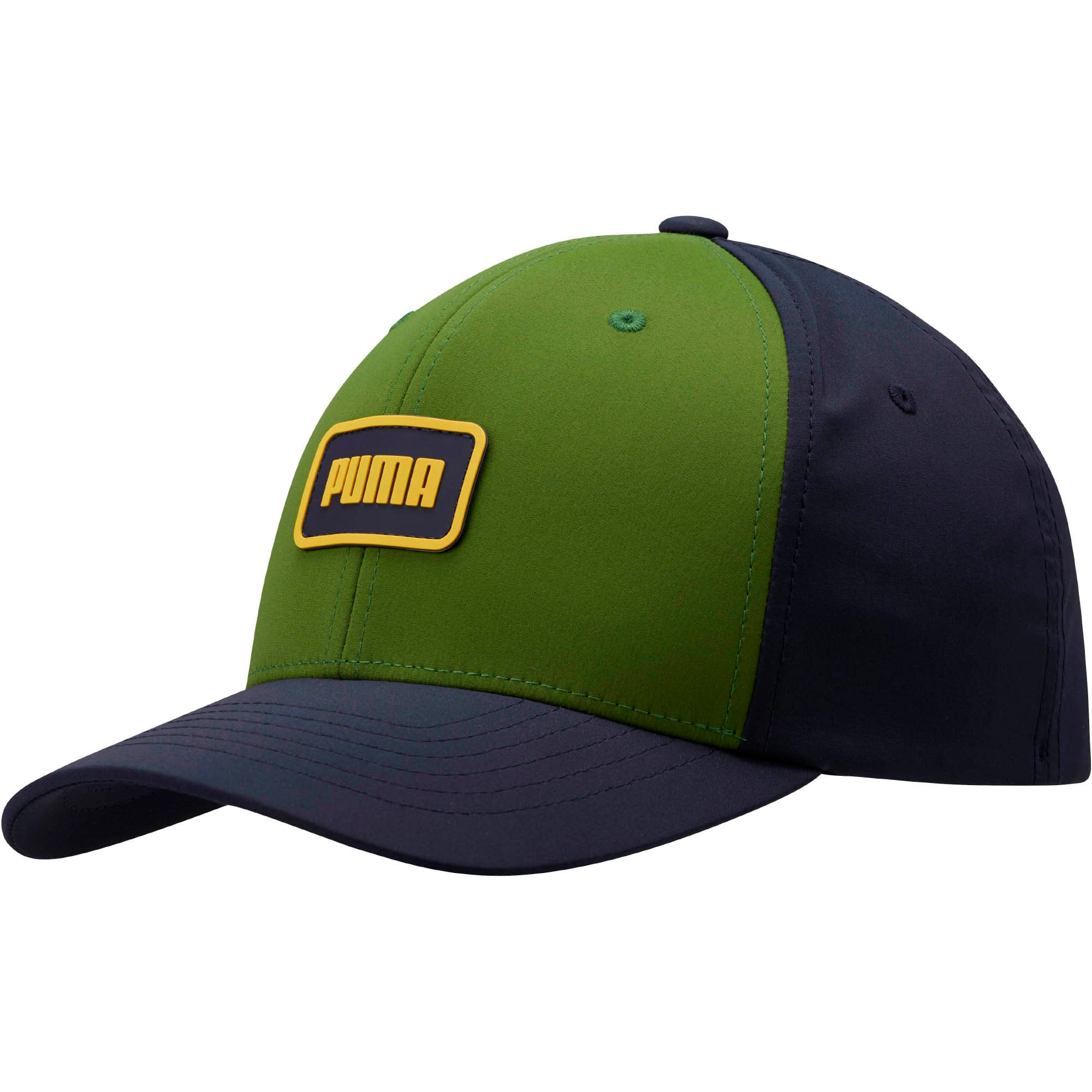 Thumbnail 1 of Clutch Flexfit Cap, Navy/Green, medium