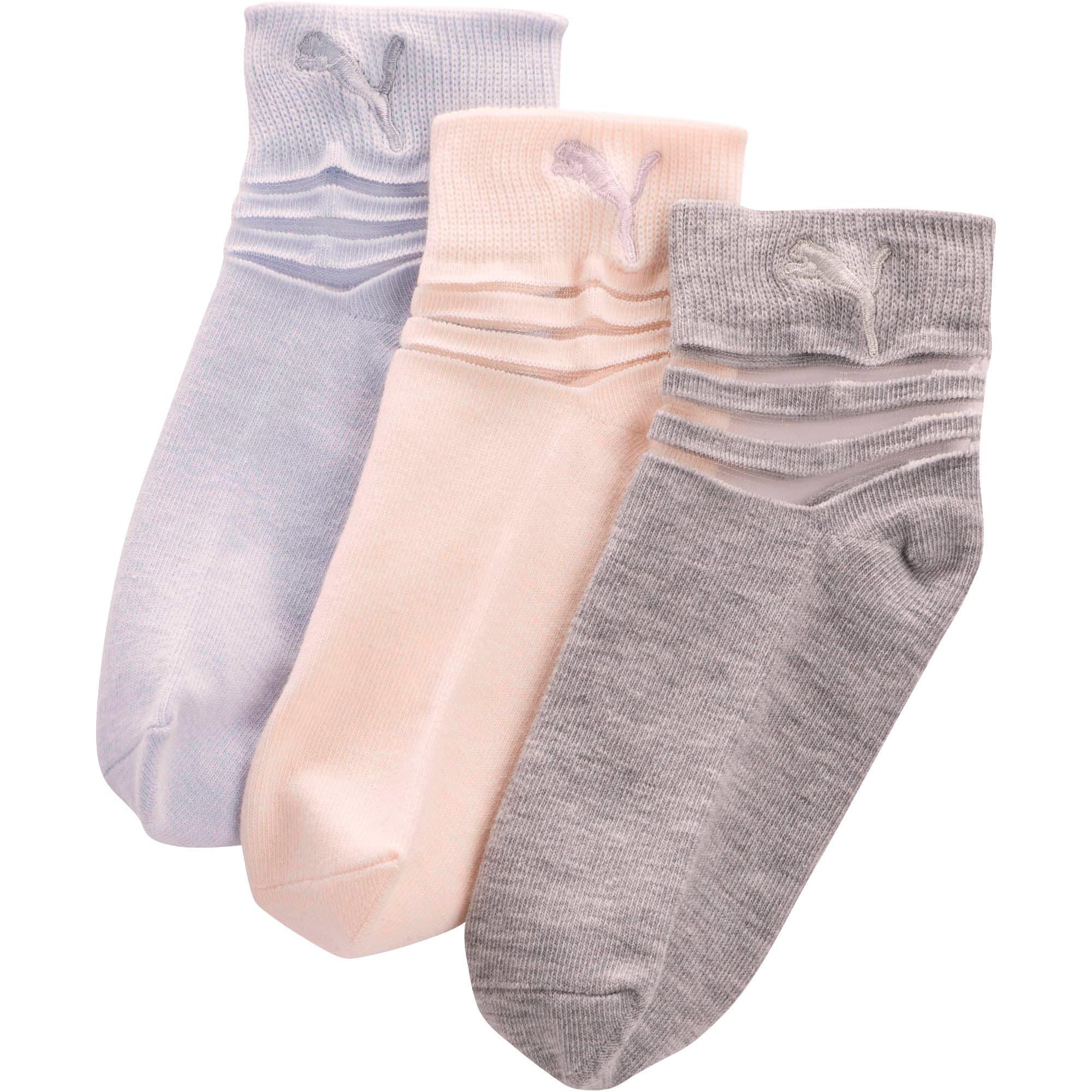 Miniatura 1 de Calcetines cortos de tela no rizada para niñas [paquete de 3], PASTEL COMBO, mediano