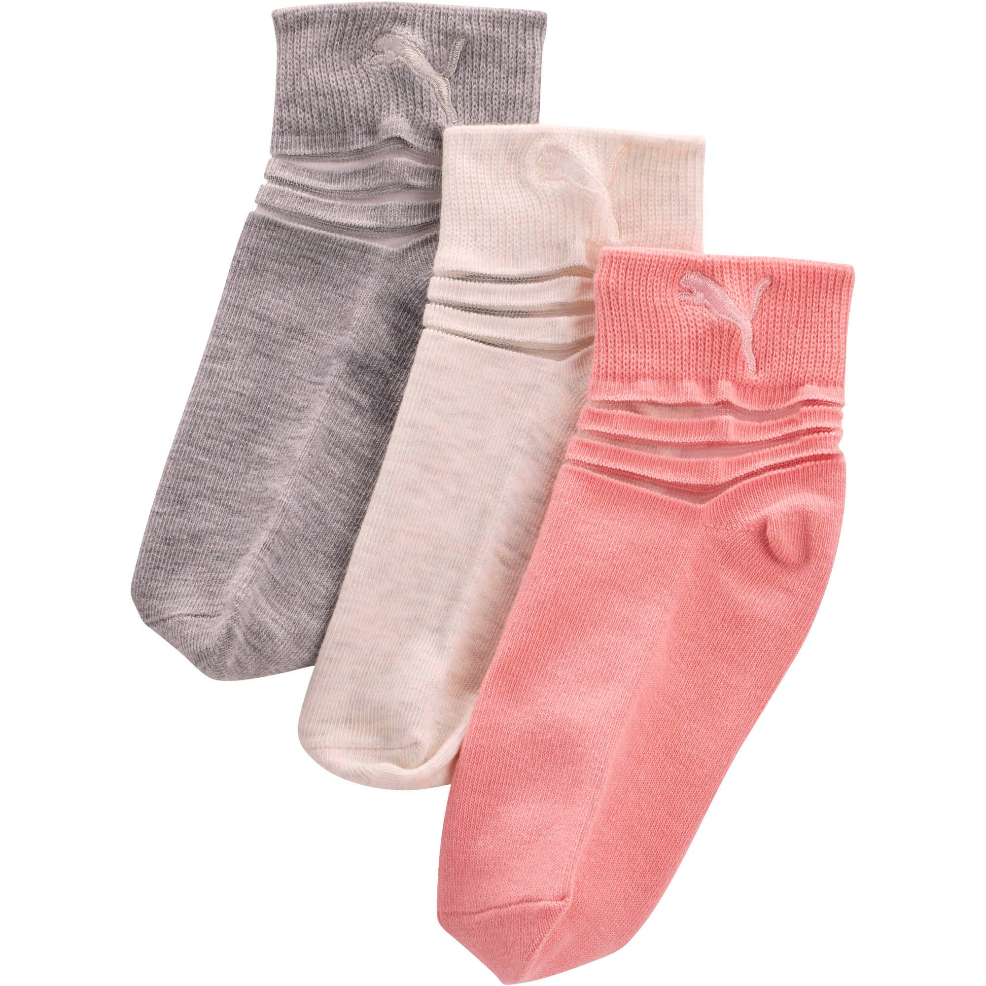 Thumbnail 1 of Girls' Non Terry Low Cut Socks [3 Pack], PINK / MULTI, medium
