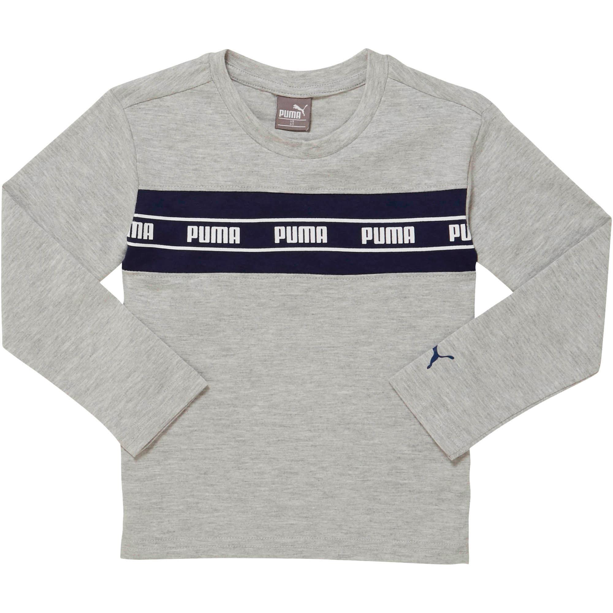 Vignette 1 de T-shirt à manches longues rapiécé AmplifiedPack, tout-petit, GRIS BRUYÈRE PÂLE, moyen