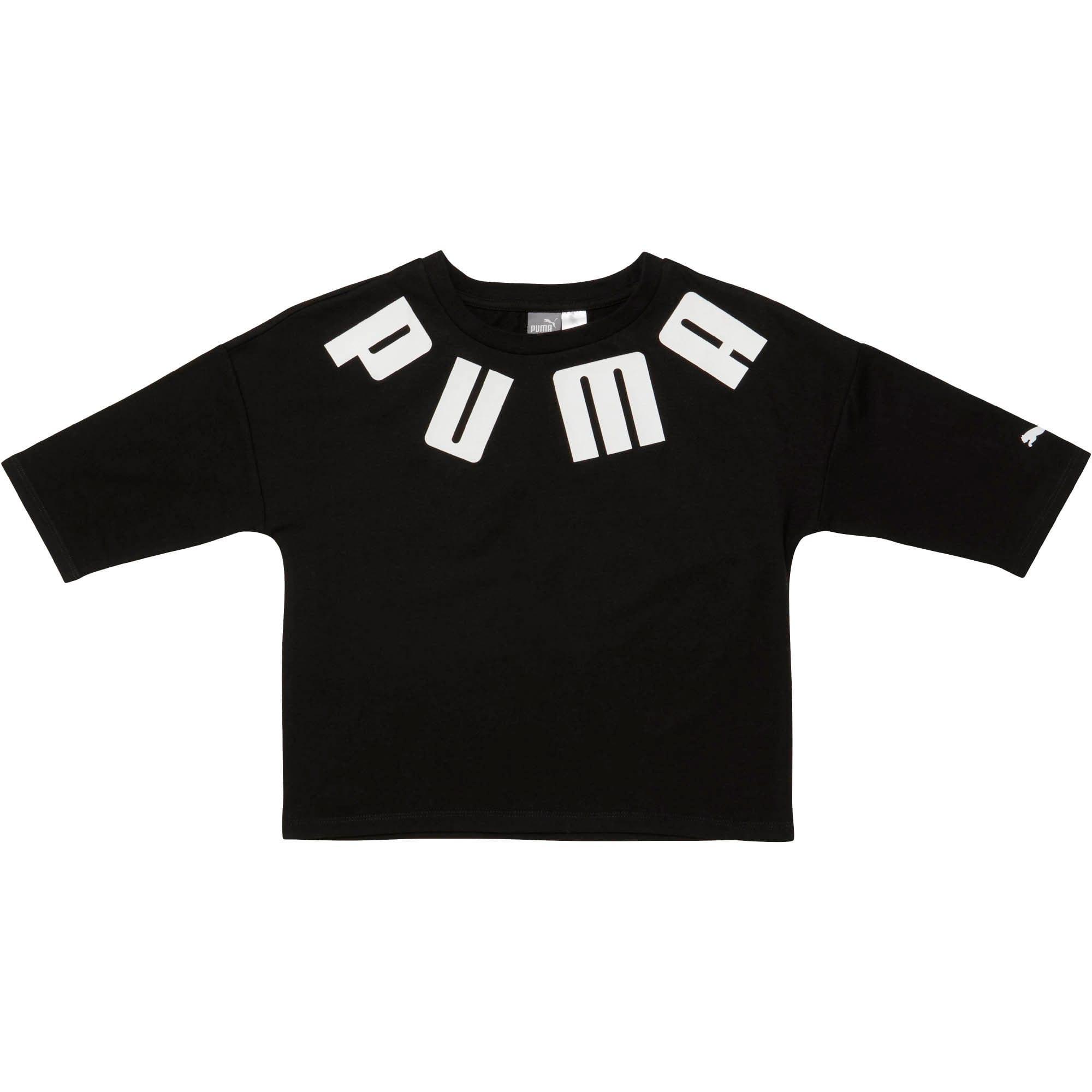 Thumbnail 1 of LuXTG Girls' Fashion Tee JR, PUMA BLACK, medium