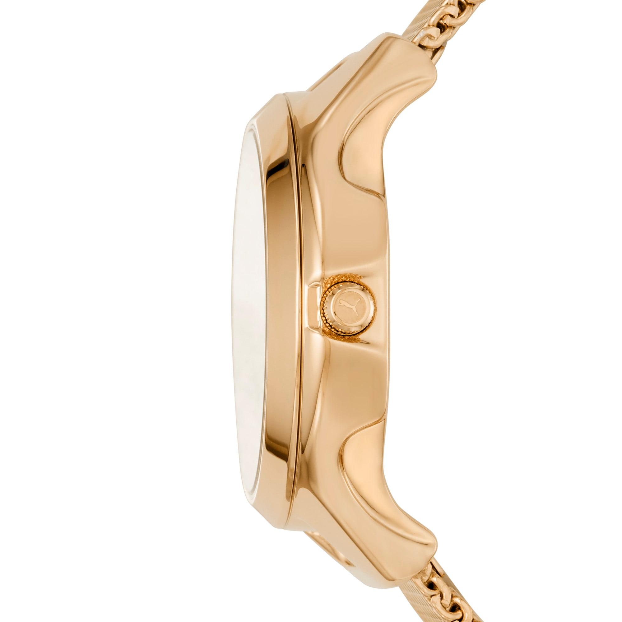 Thumbnail 3 of ウィメンズ リセット ステンレス スチール V1  時計, Gold/Gold, medium-JPN