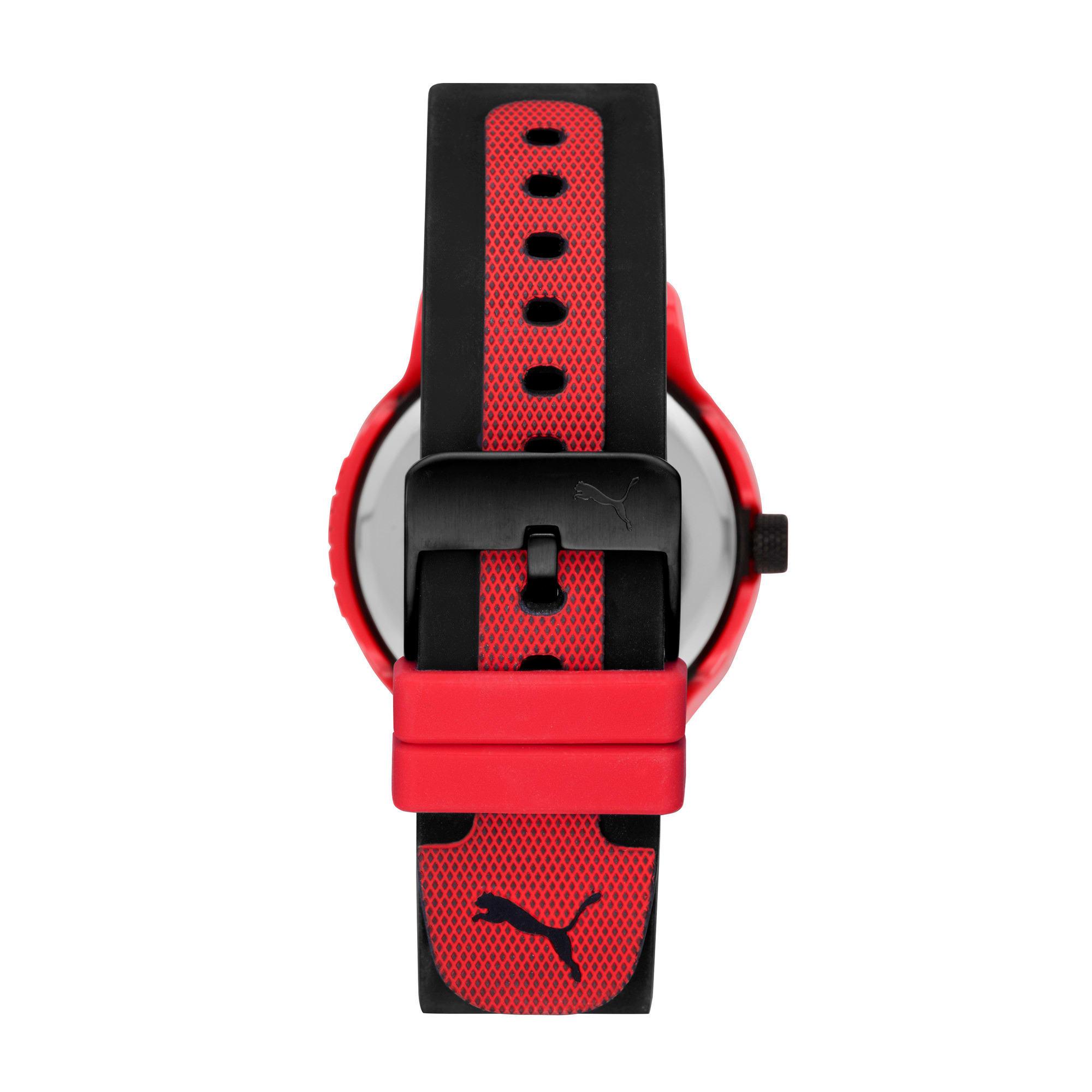 Thumbnail 2 of メンズ リセット シリコン V1  時計, Red/Black, medium-JPN