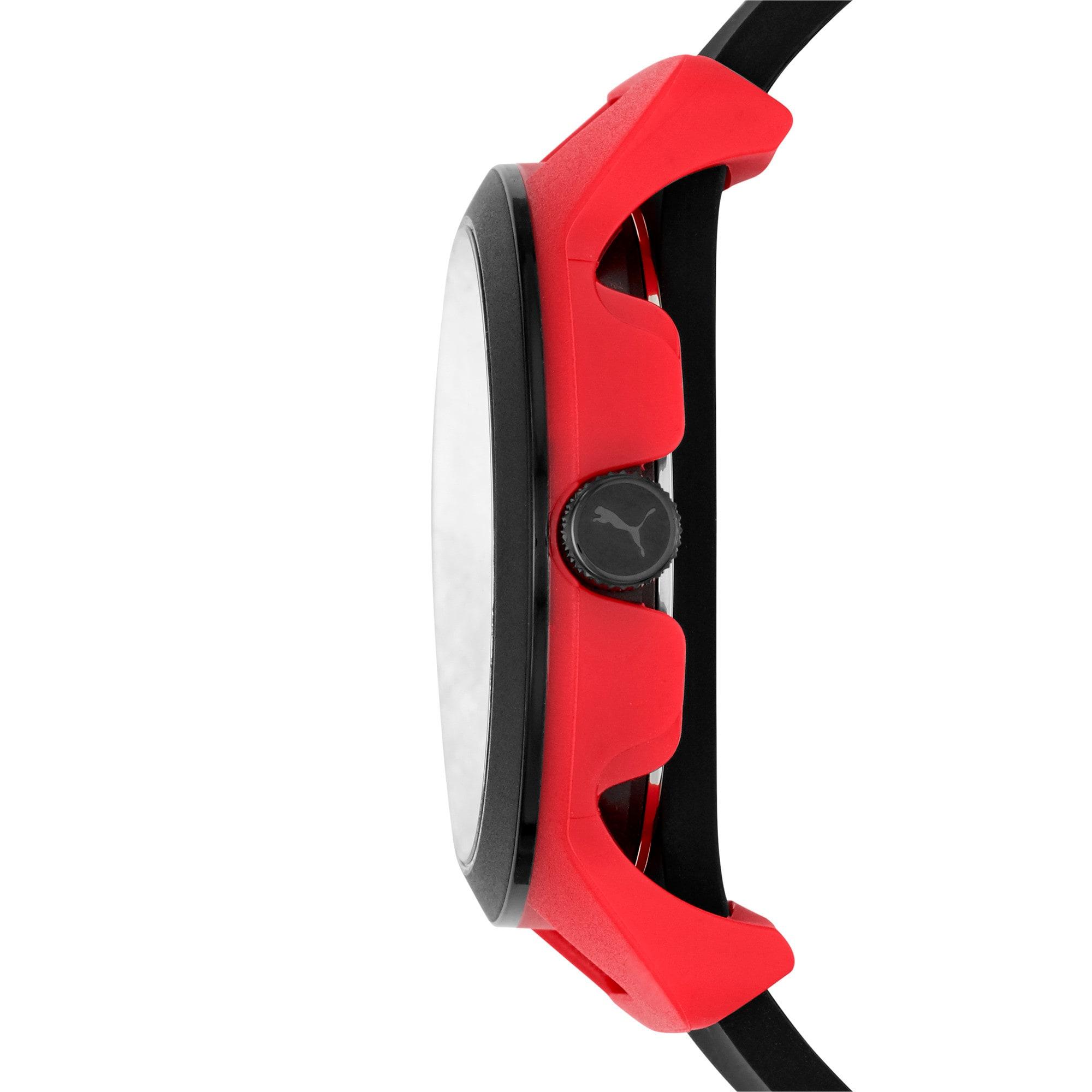 Thumbnail 3 of メンズ リセット シリコン V1  時計, Red/Black, medium-JPN