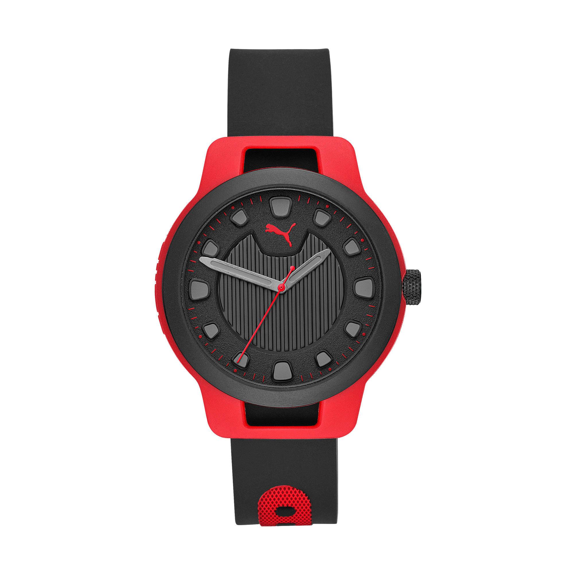 Thumbnail 1 of メンズ リセット シリコン V1  時計, Red/Black, medium-JPN