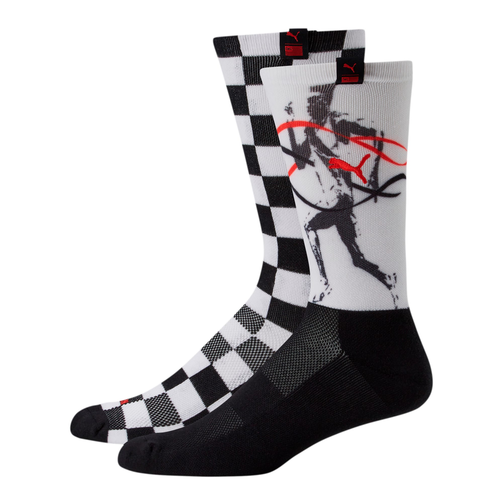 Thumbnail 1 of PUMA x TMC Men's Crew Socks [2 Pack], BLACK / WHITE, medium
