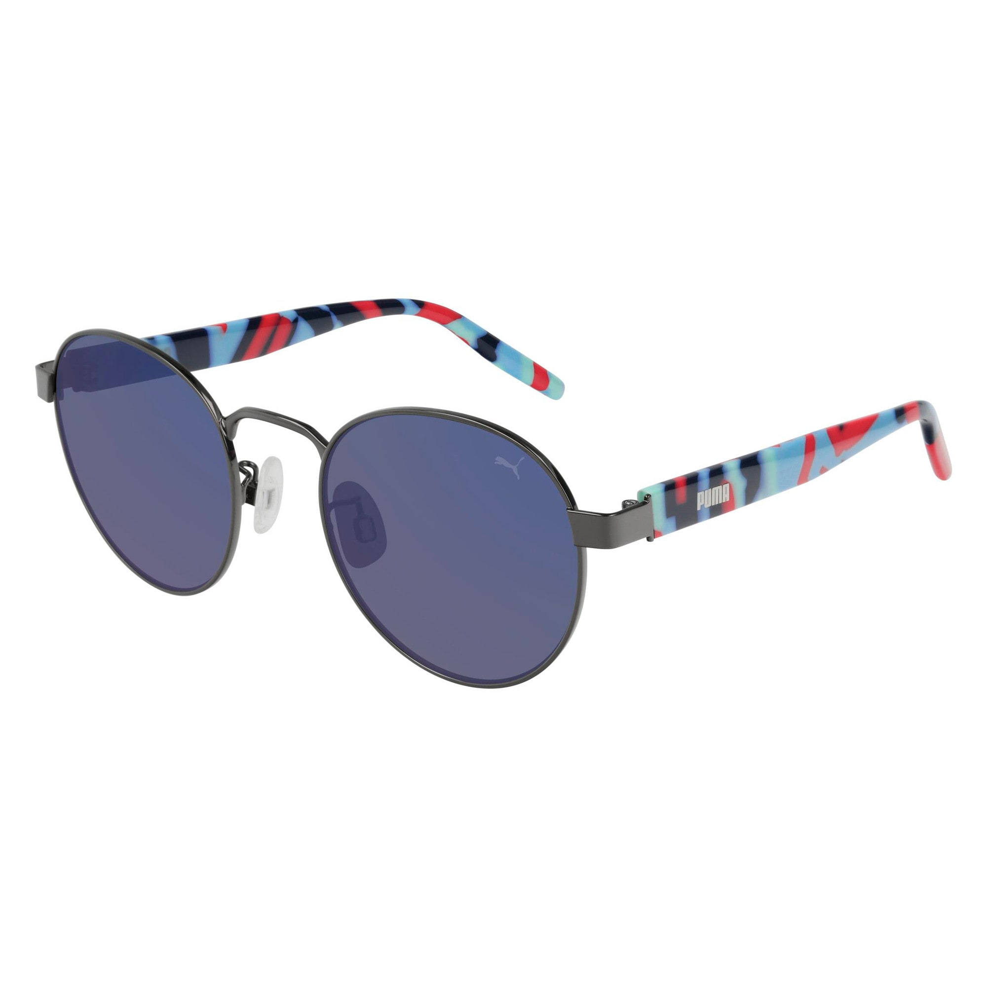 Thumbnail 1 of Catalina Round Metal Sunglasses, RUTHENIUM, medium