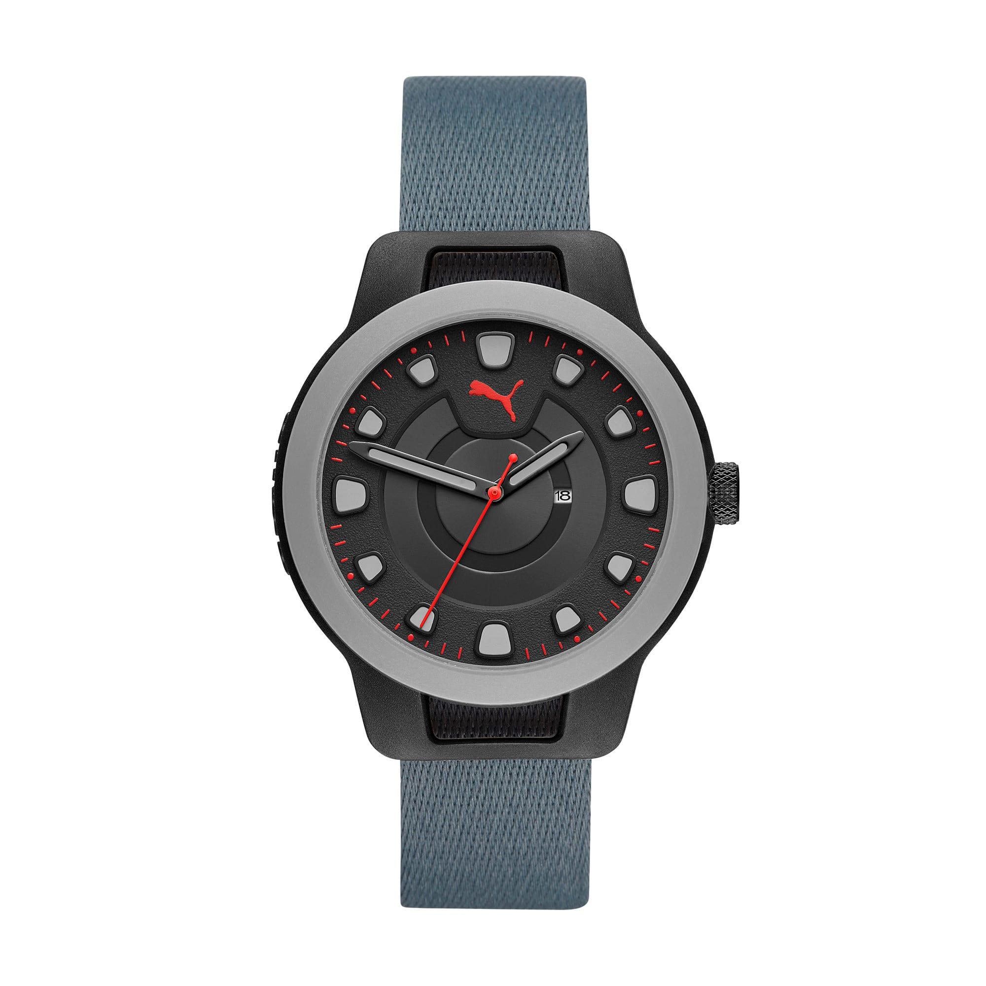 Thumbnail 1 of Reset v1 Reversible Watch, Blue/Red, medium
