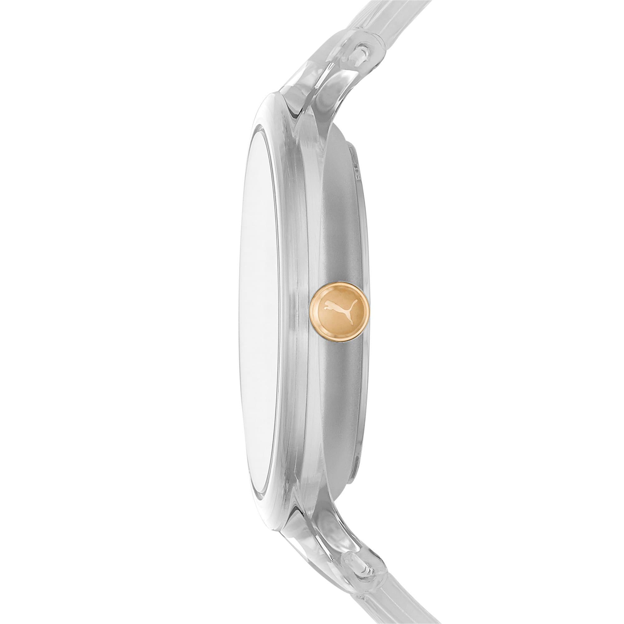 Thumbnail 3 of CONTOUR Ultra-Slim Damen Uhr, Clear/Clear, medium