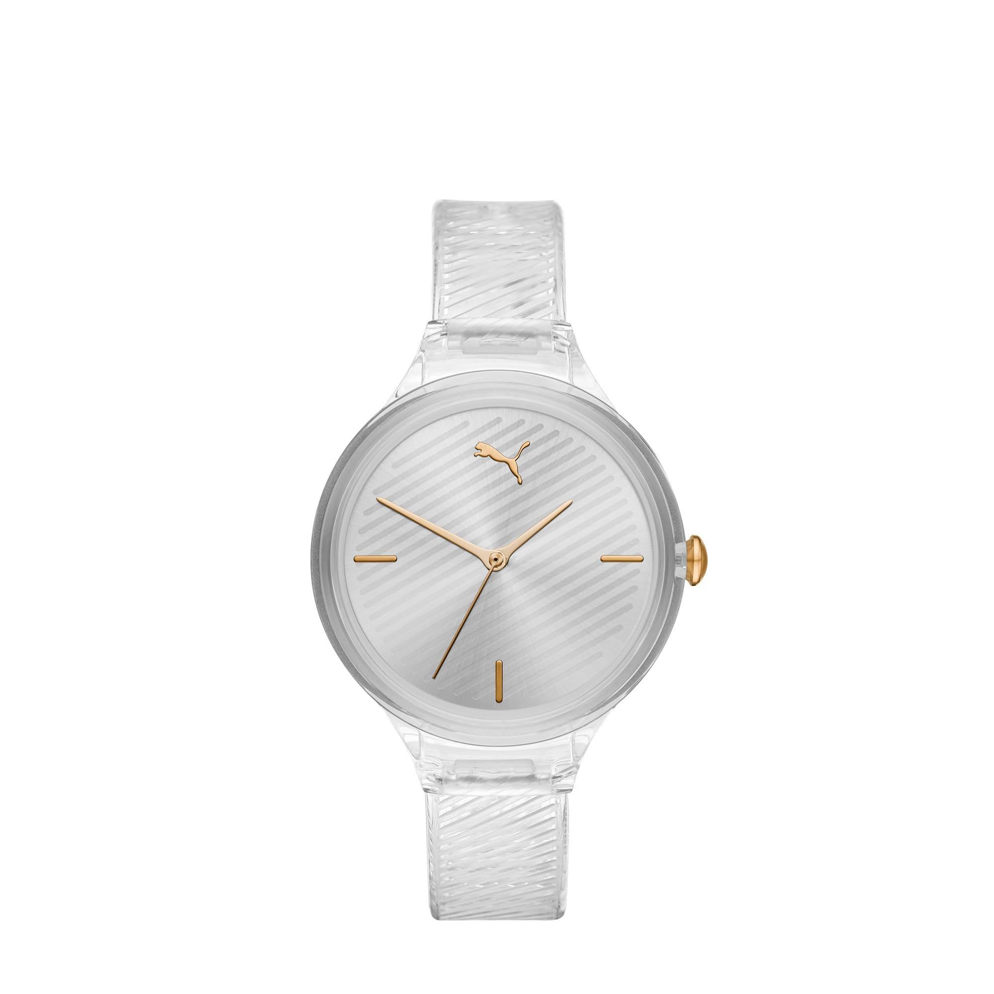 Thumbnail 1 of CONTOUR Ultra-Slim Damen Uhr, Clear/Clear, medium